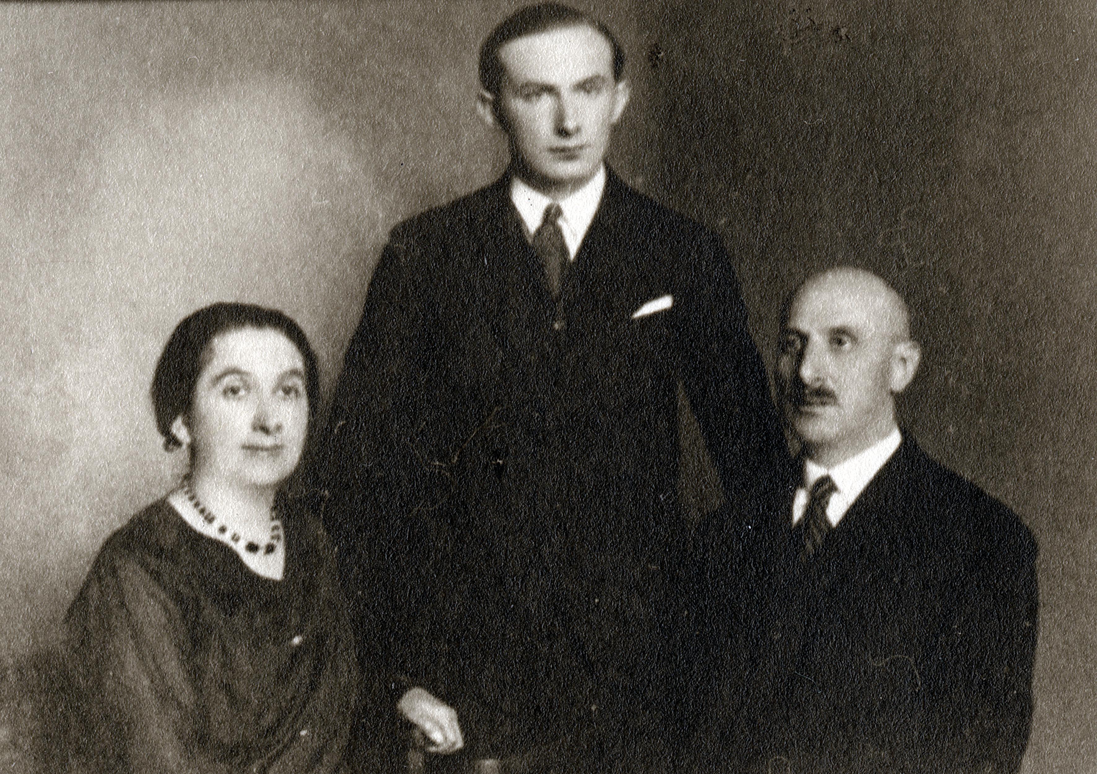 Armin und Elisabeth Wertheim mit Sohn Gyuri