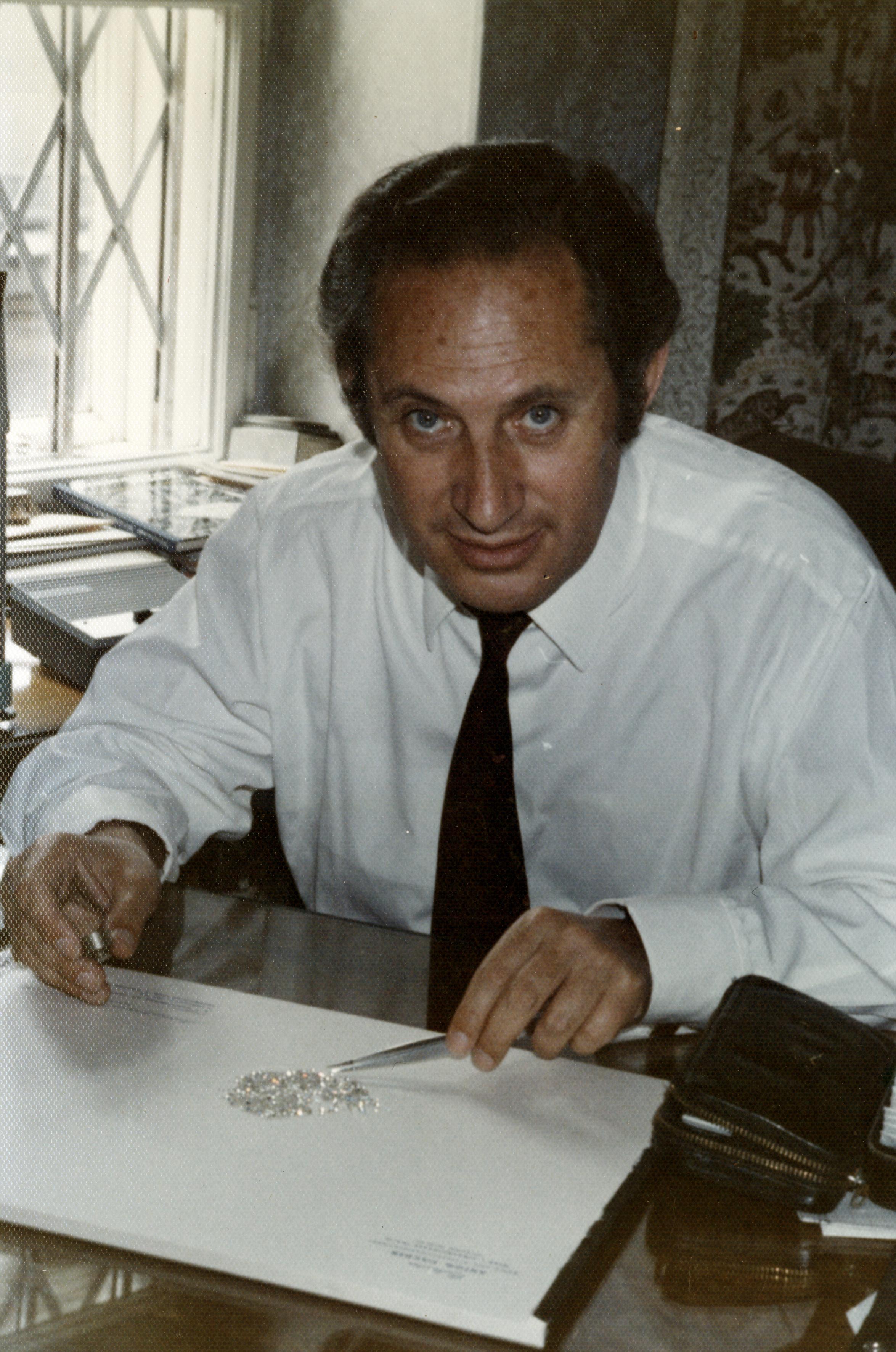 Anton Fischer bei der Arbeit in Wien