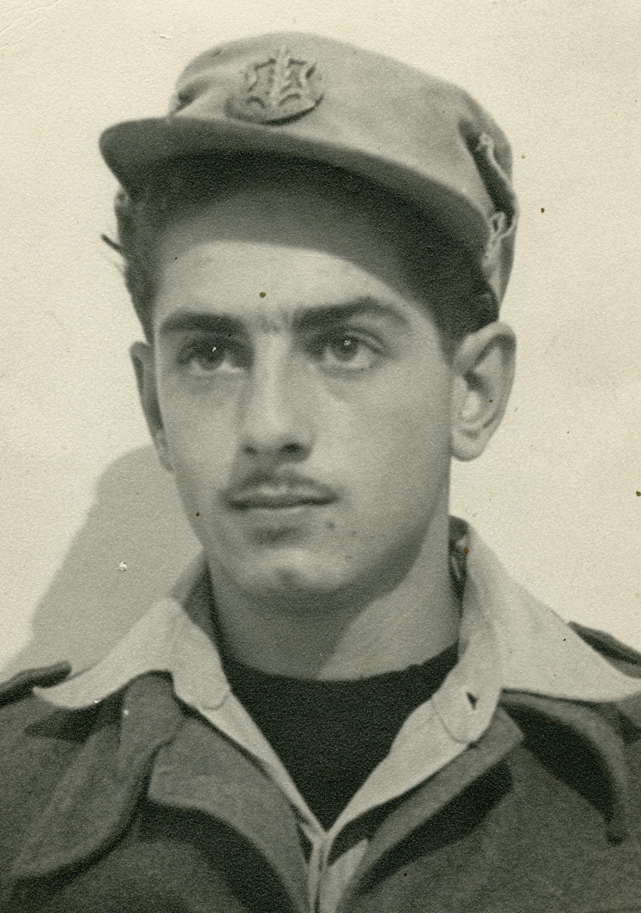 Erwin Landau als Soldat der israelischen Armee