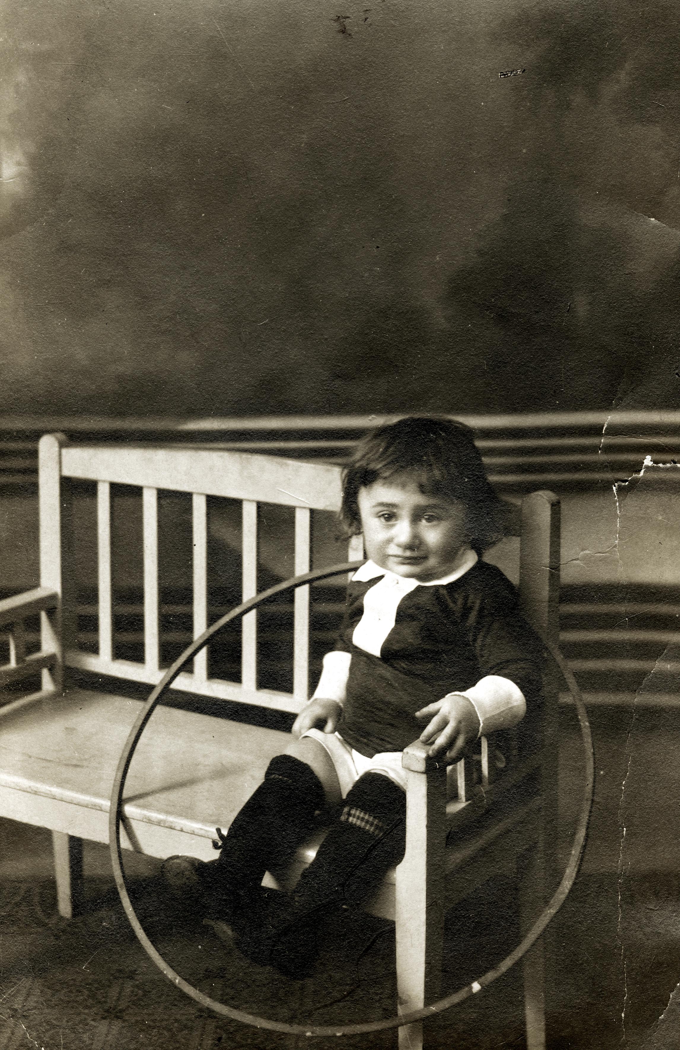 Erwin Weiss als Einjähriger in Wien