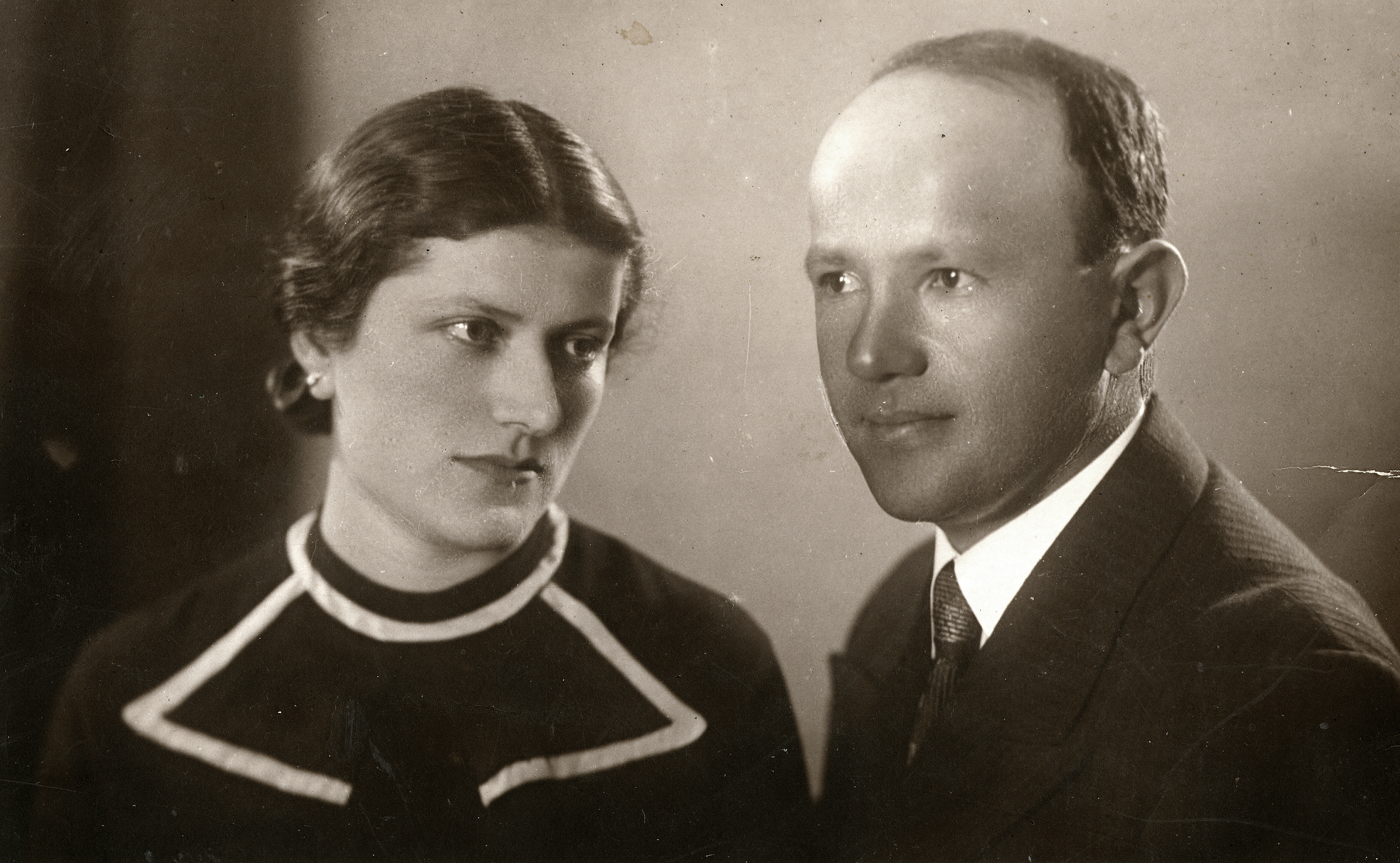 Moische Guzik und seine Ehefrau