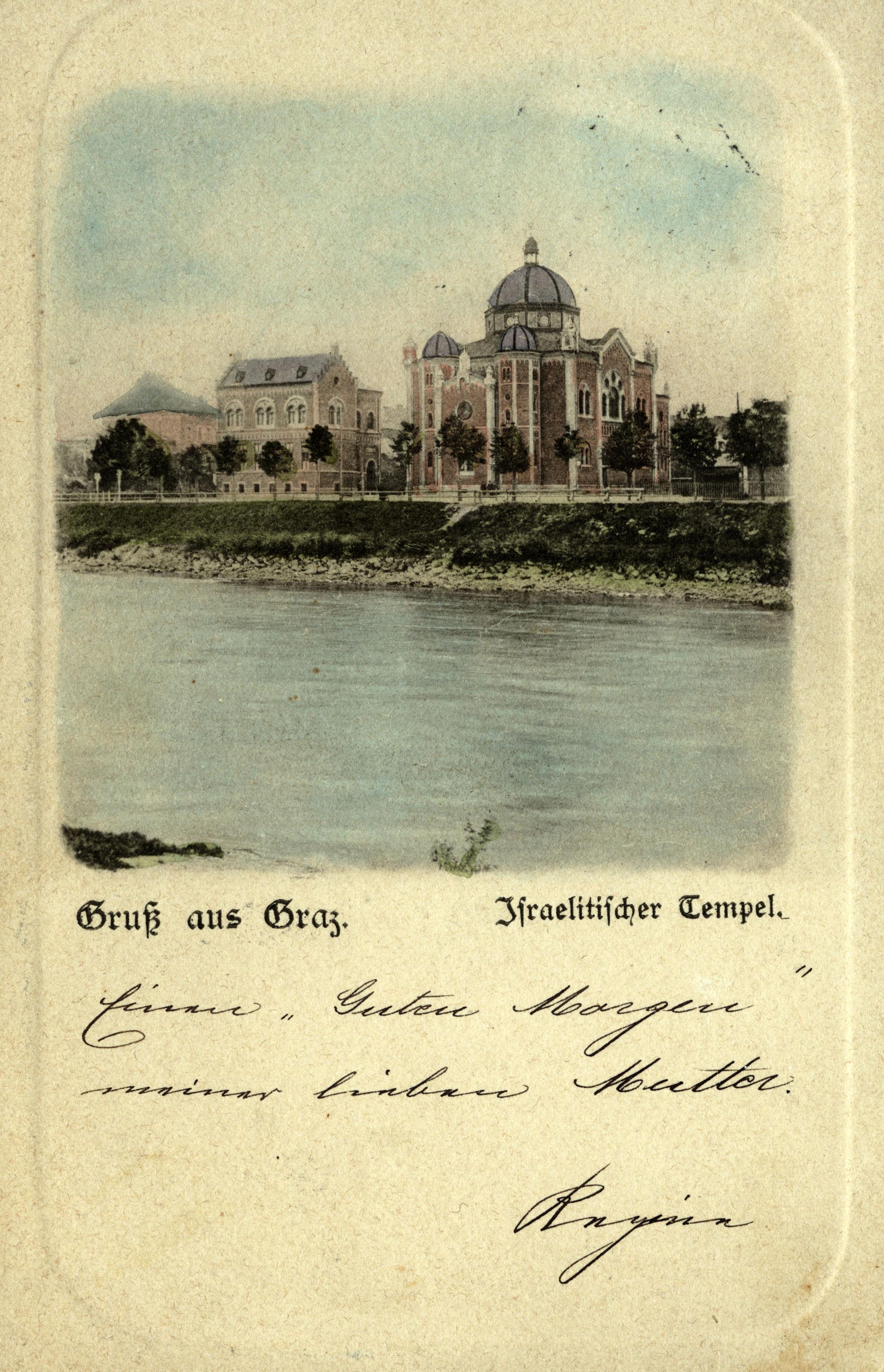 Die ehemalige Synagoge in Graz, die 1892 gebaut und 1938 zerstört wurde