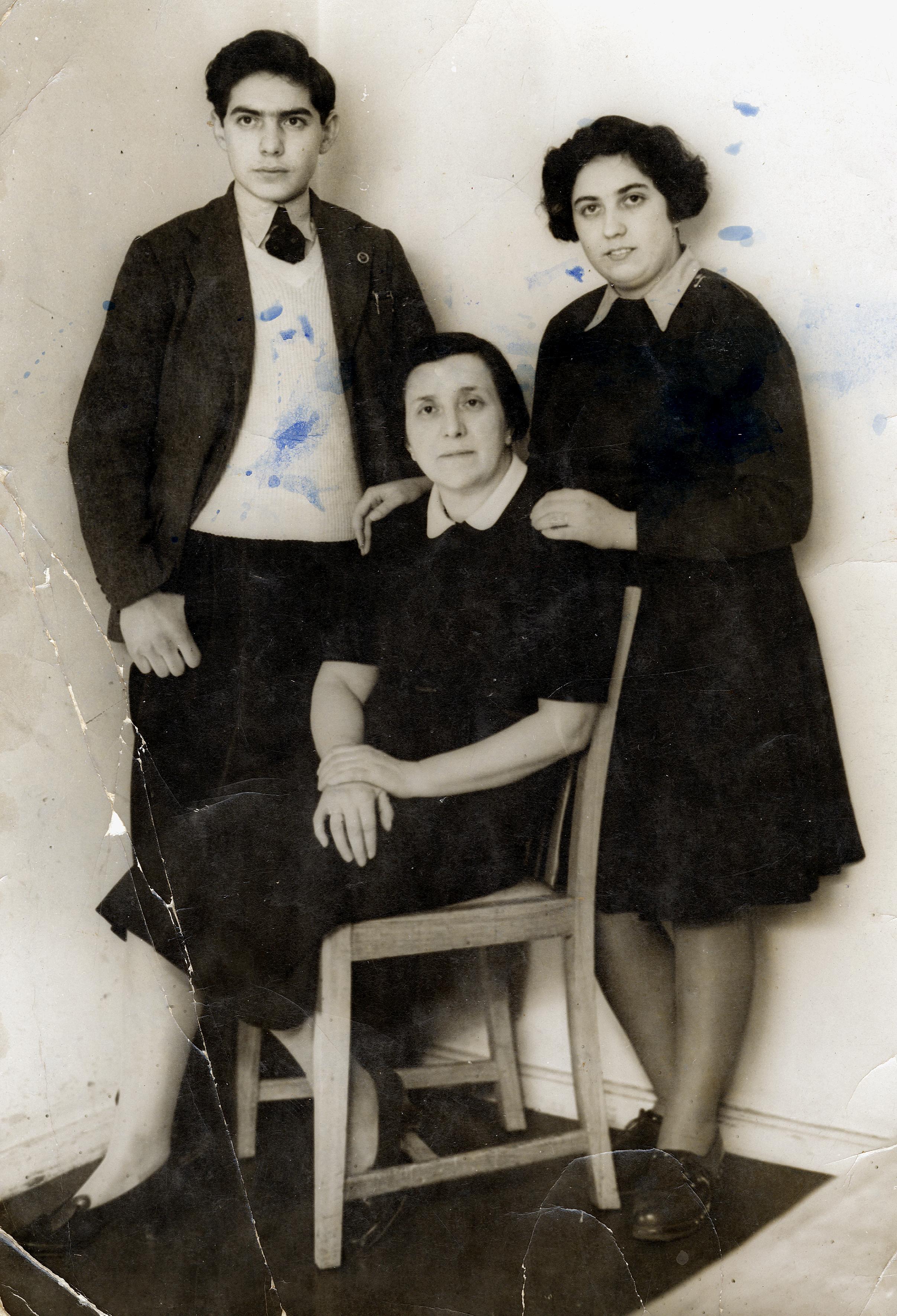 Hanny Hiegers Bruder Fritz Spiegl und Tante Kitty Geiringer in England