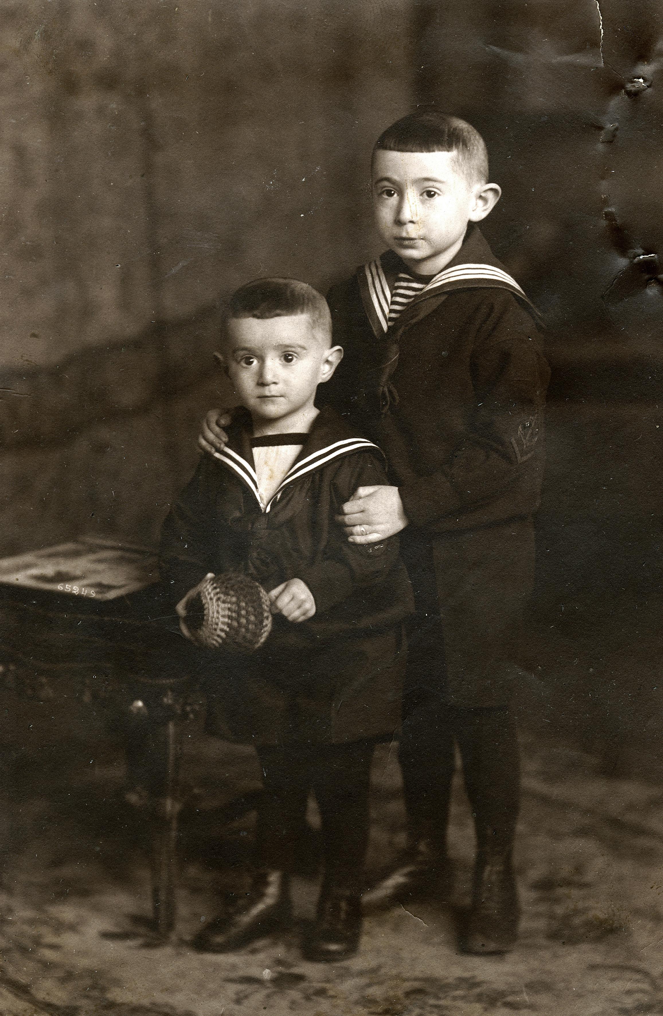 Herbert und sein Bruder Werner Lewin