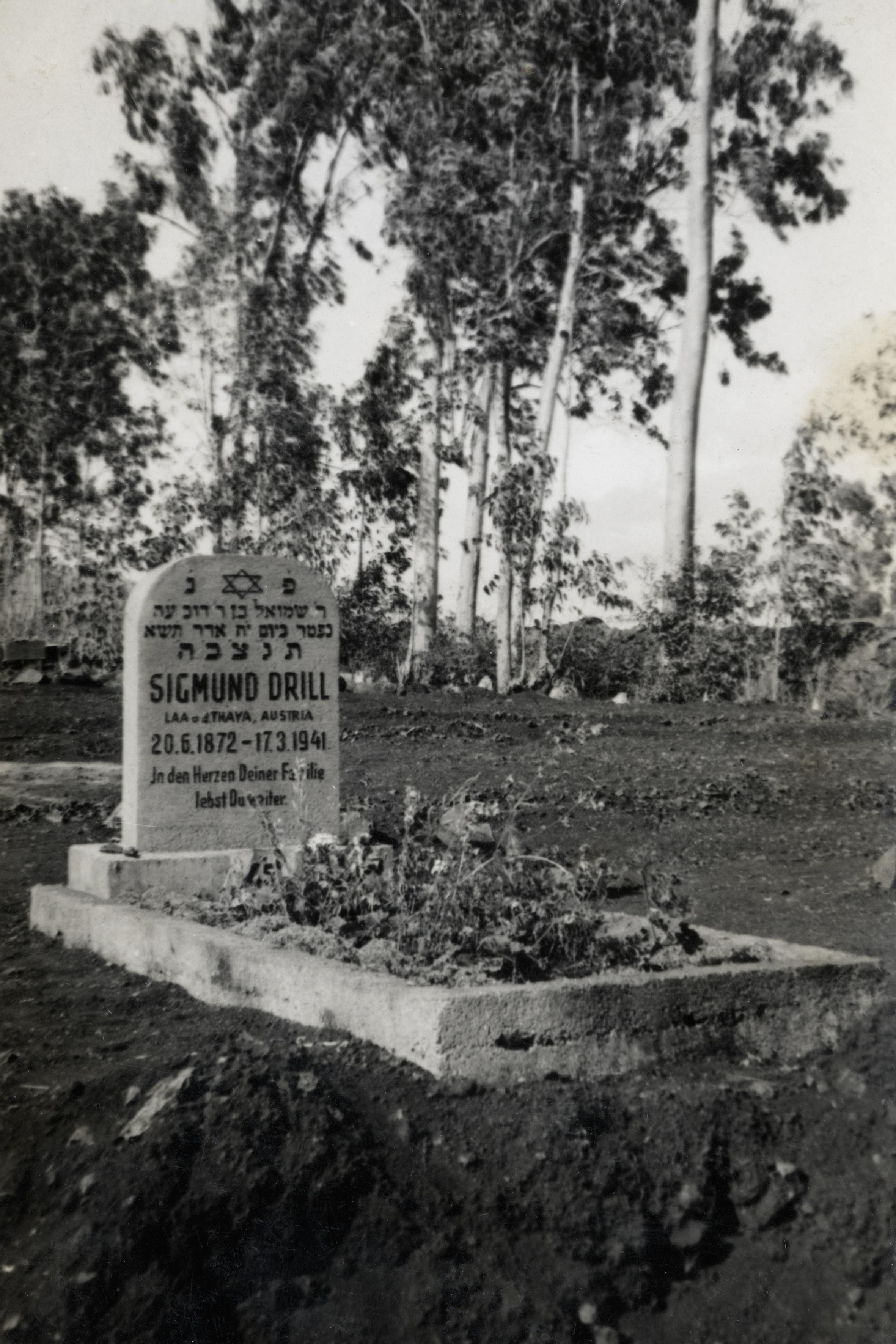 Das Grab von Sigmund Drill auf Mauritius
