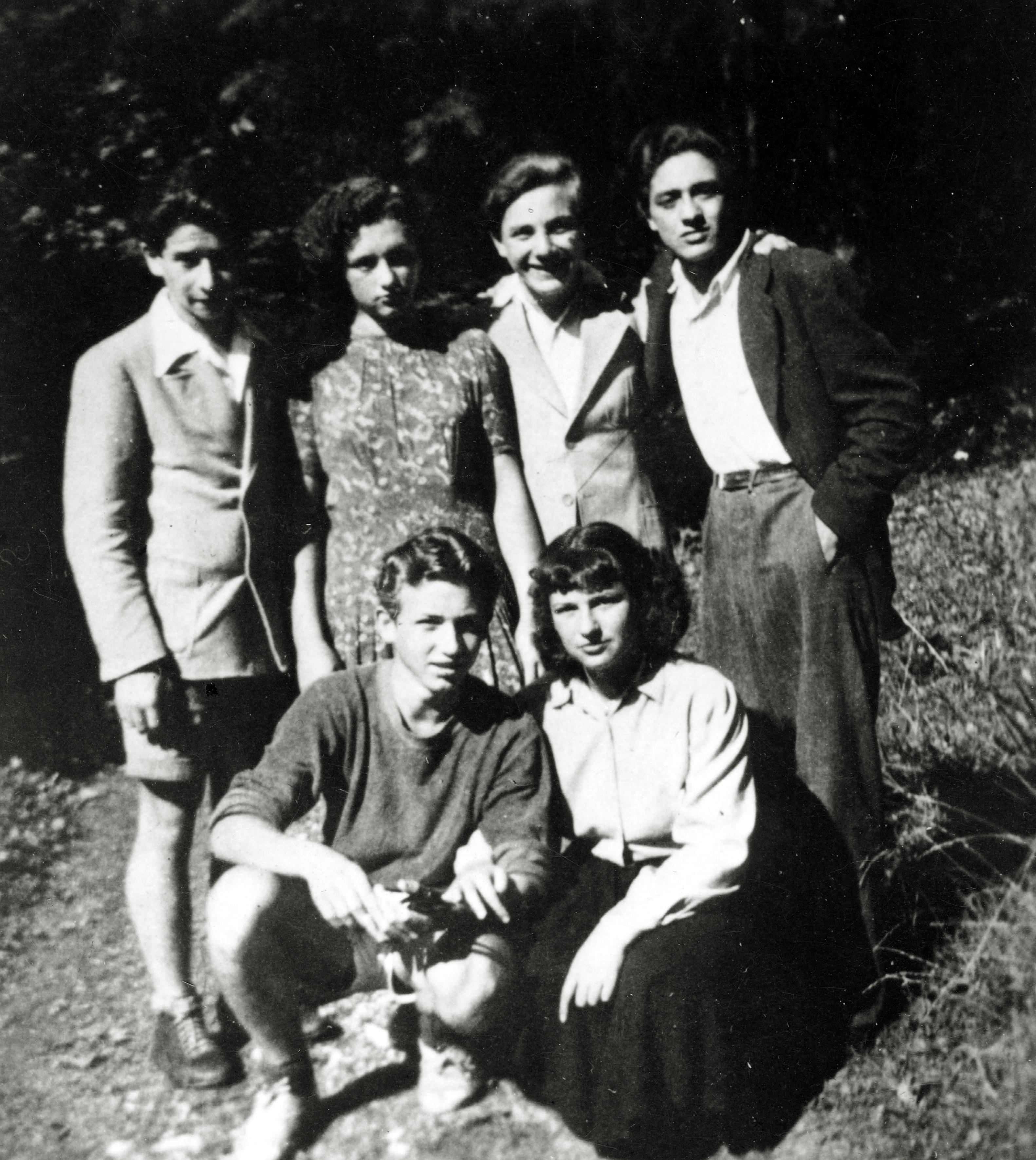 Manfred Wonsch mit Freunden aus der Hakoah Mannschaft auf dem Semmering