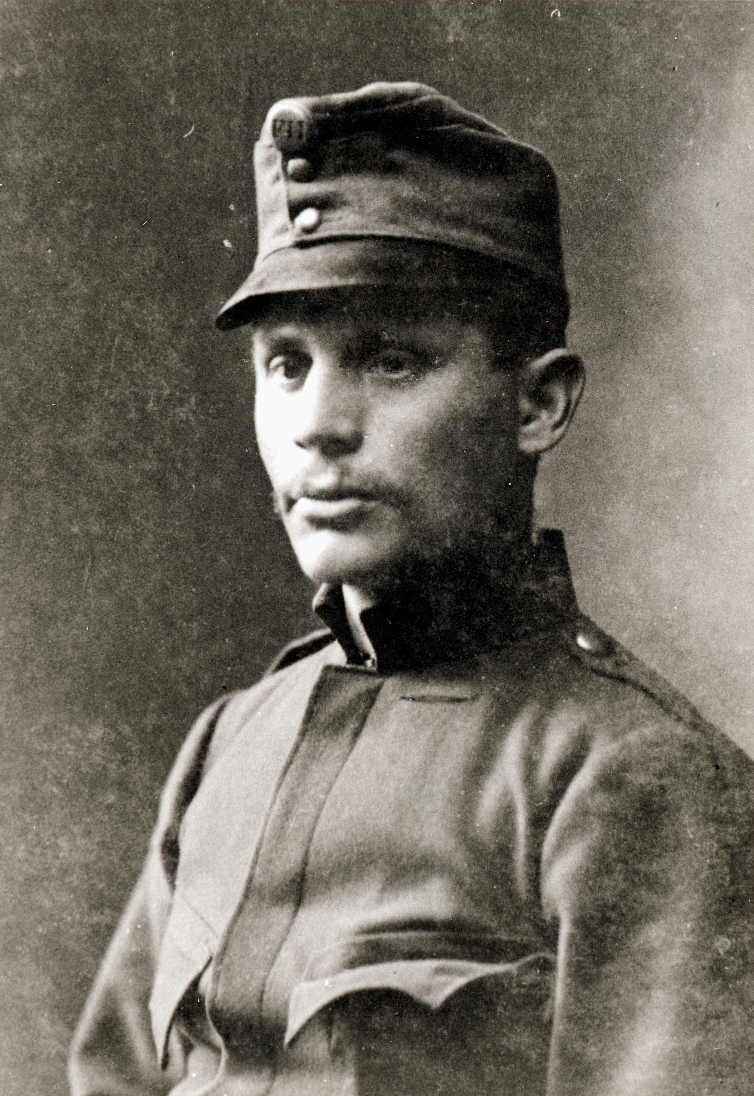 Siegfried Suschny als Soldat der k.u.k. Armee