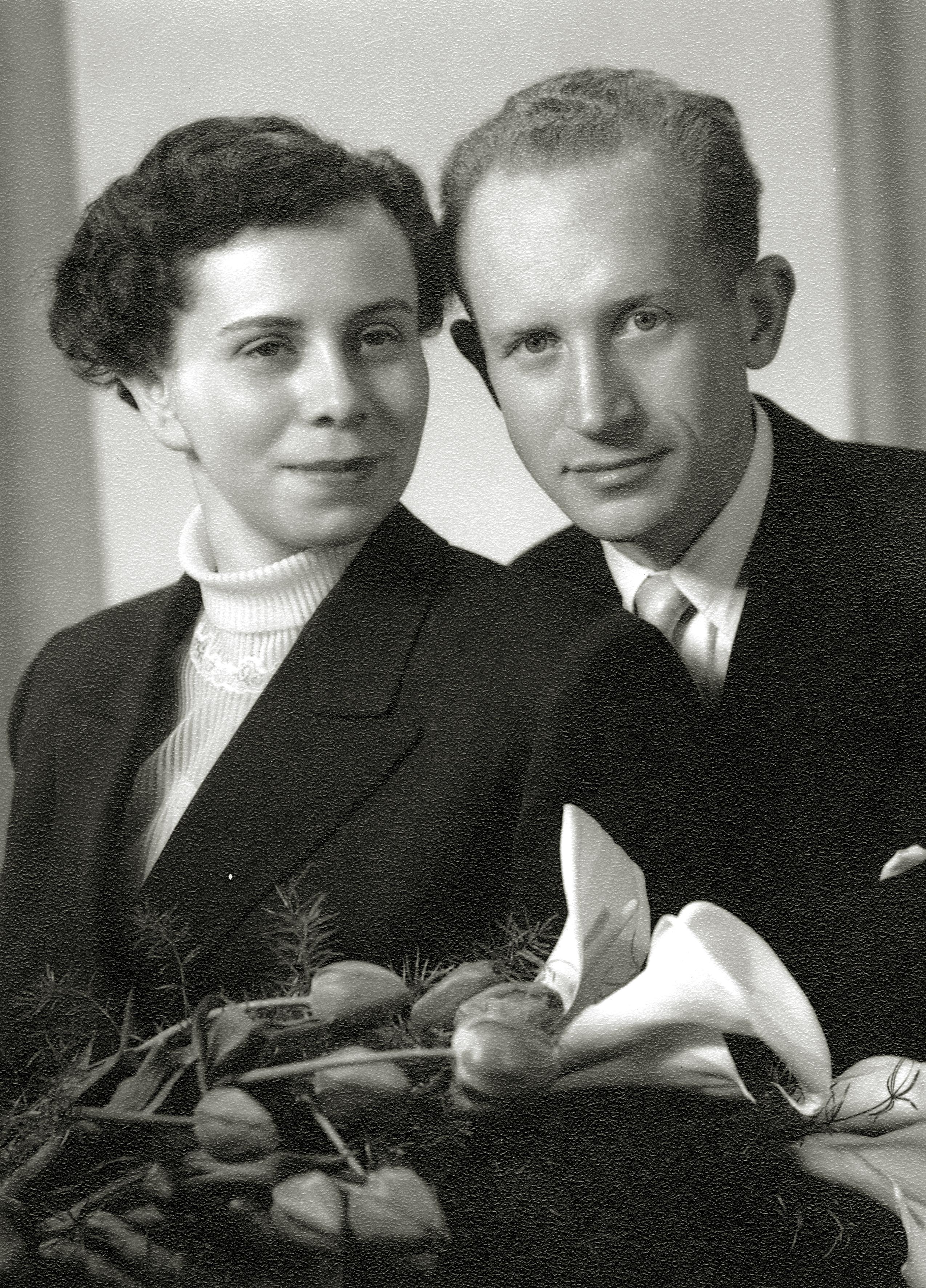 Hochzeitsfoto Dr. Otto Suschny und Kitty Suschny, geb. Pistol, im Jahre 1954