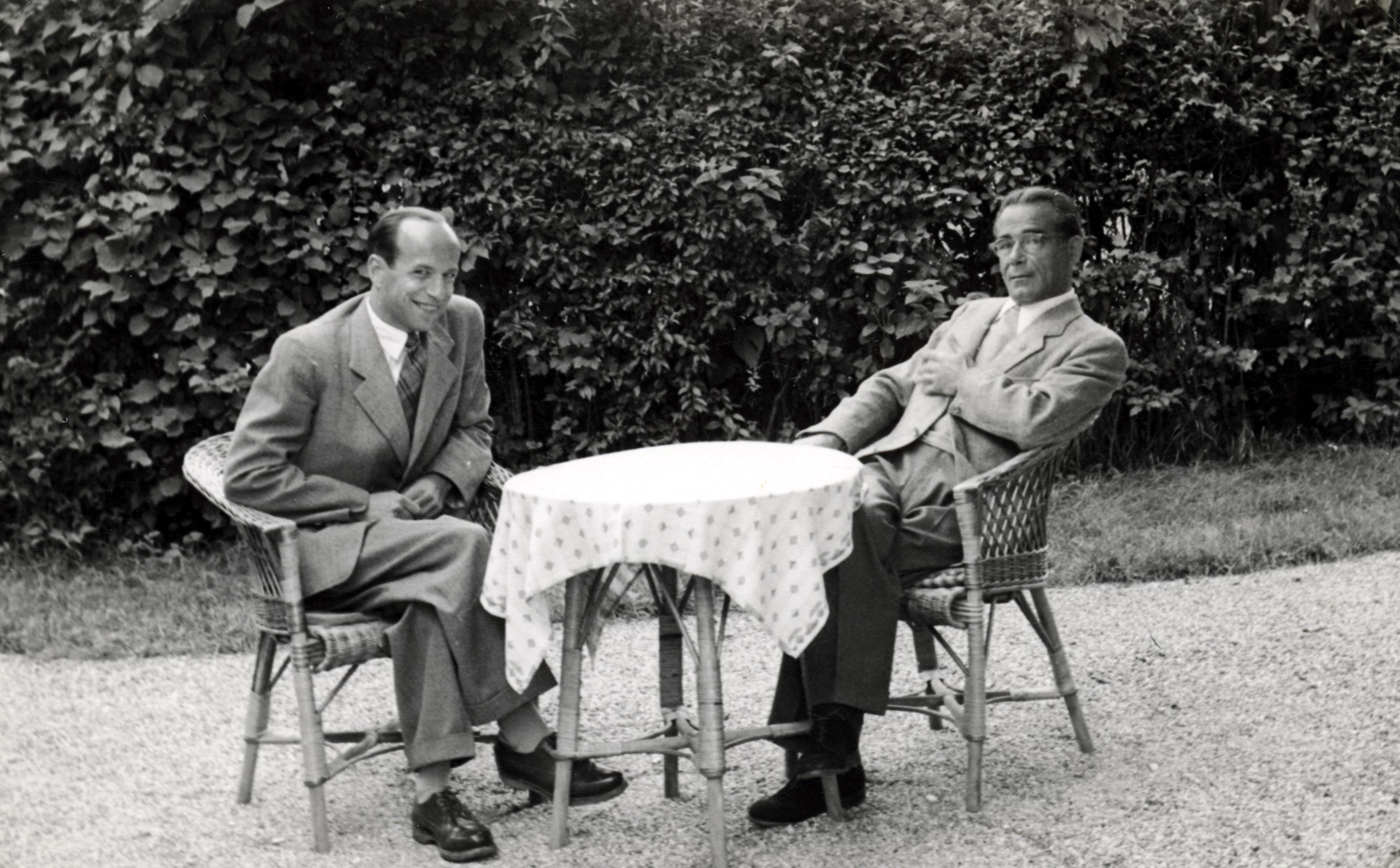 Paul Rona und sein Cousin Emmerich Strasser