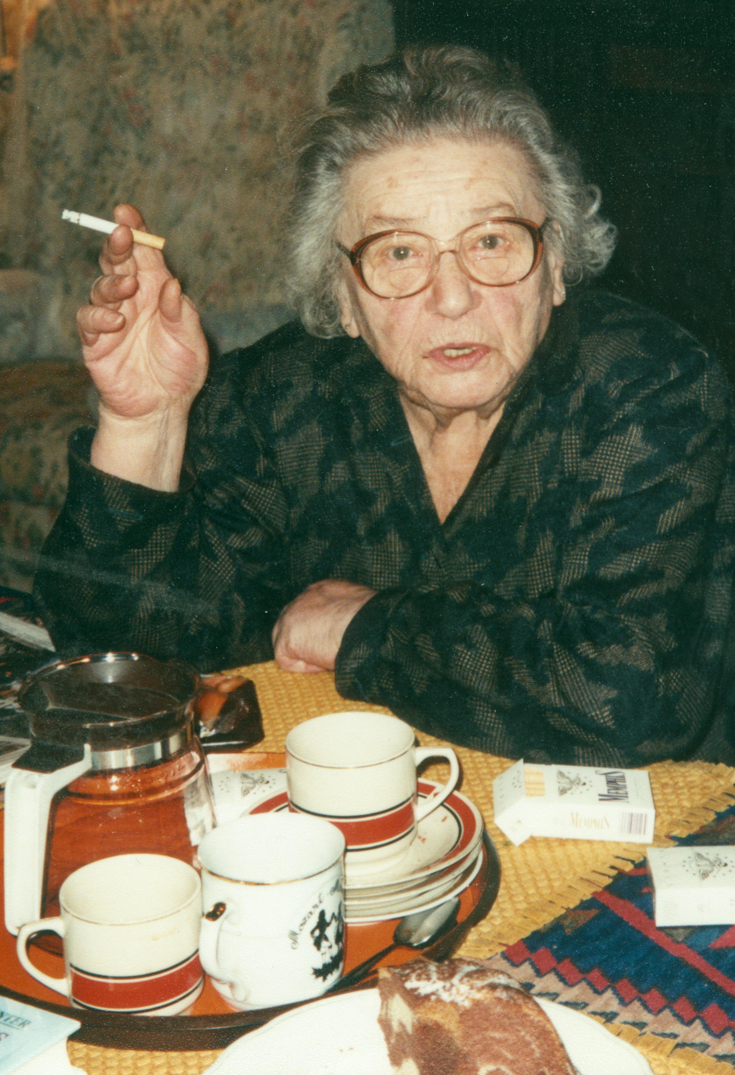 Rosa Rosenstein in her apartment in Vienna