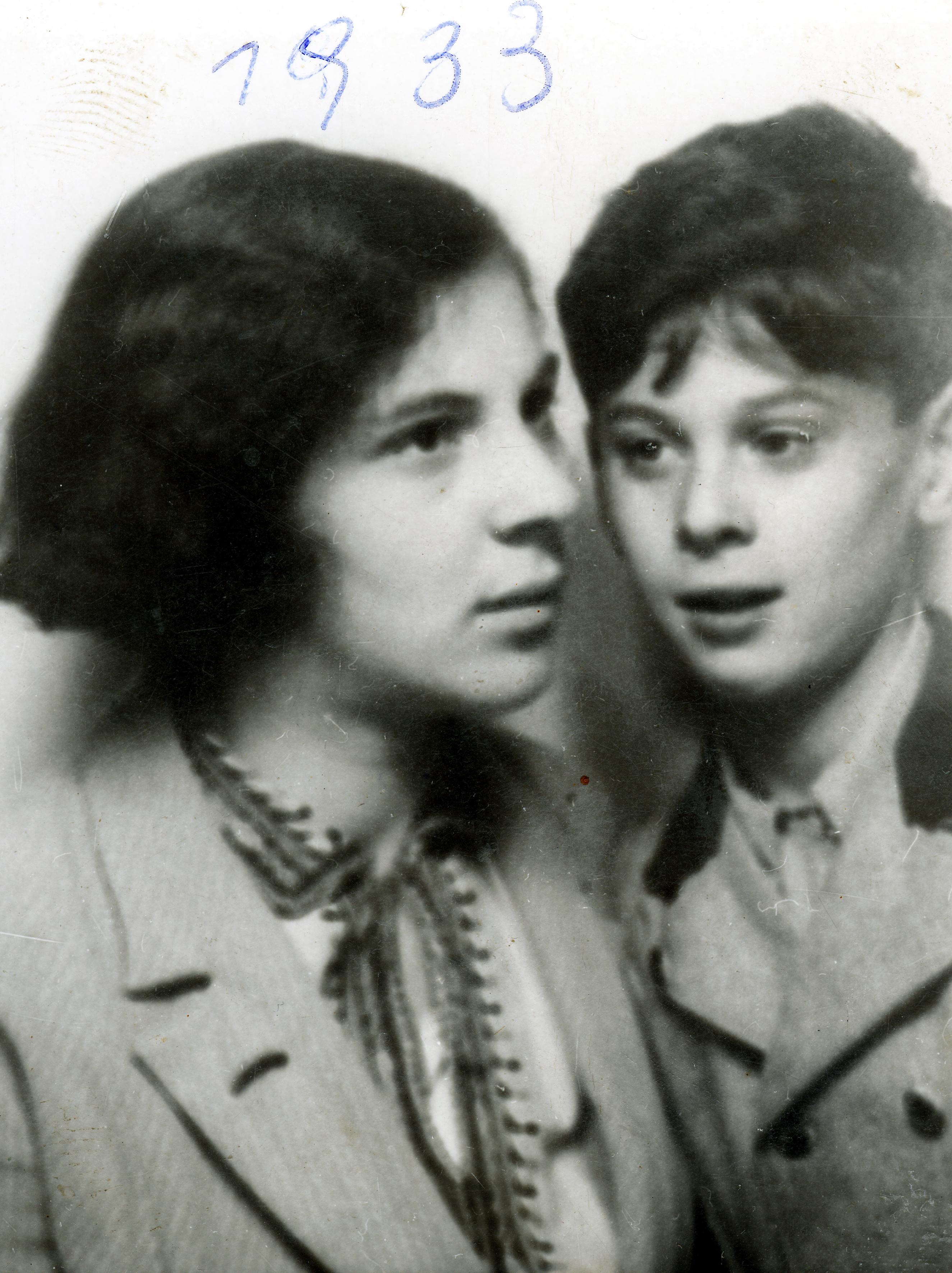 Dr. Walter Rosner und seine Schwester Paula Bizberg