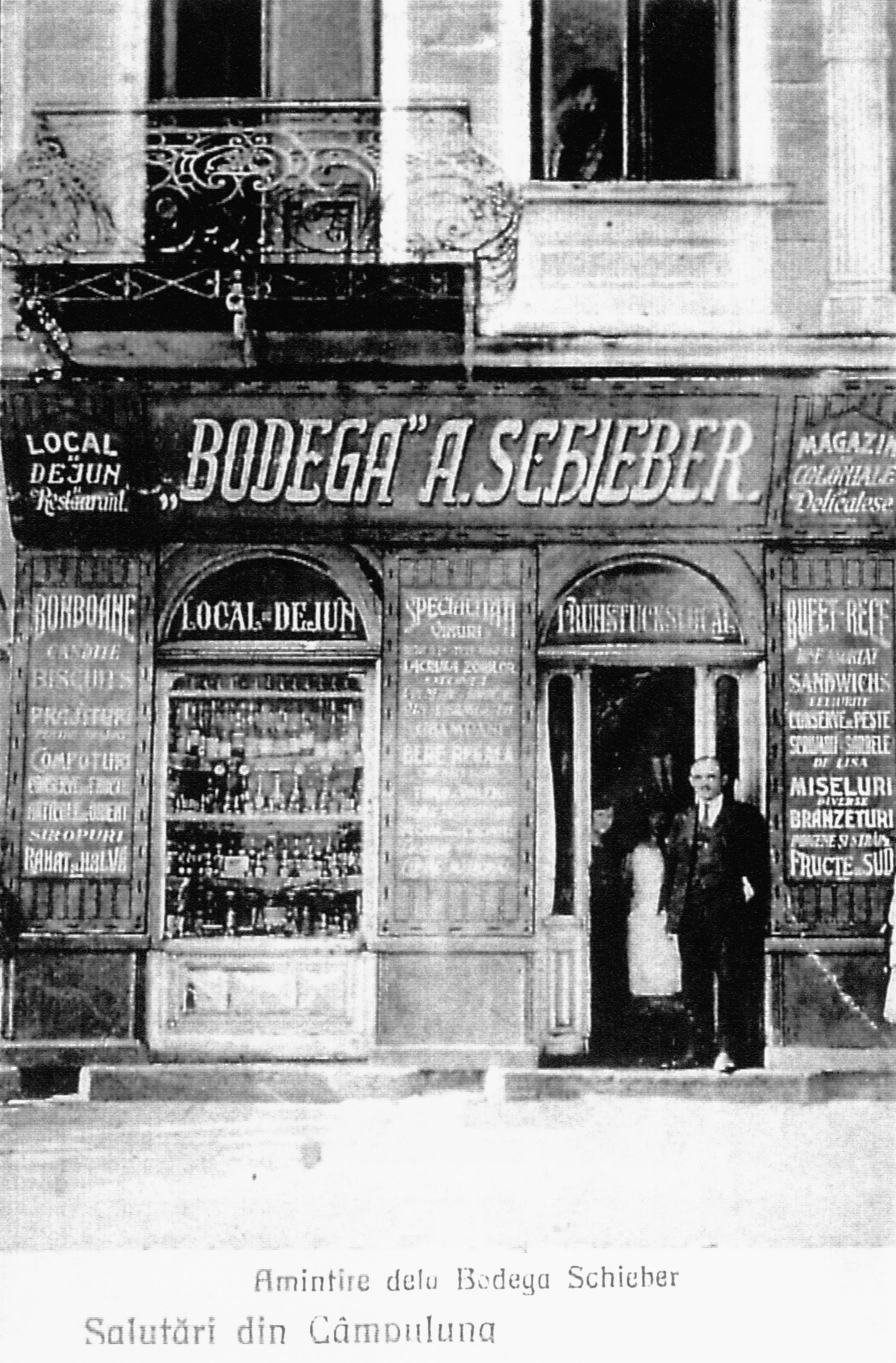 Abraham Isak Schieber vor seiner 'Bodega'