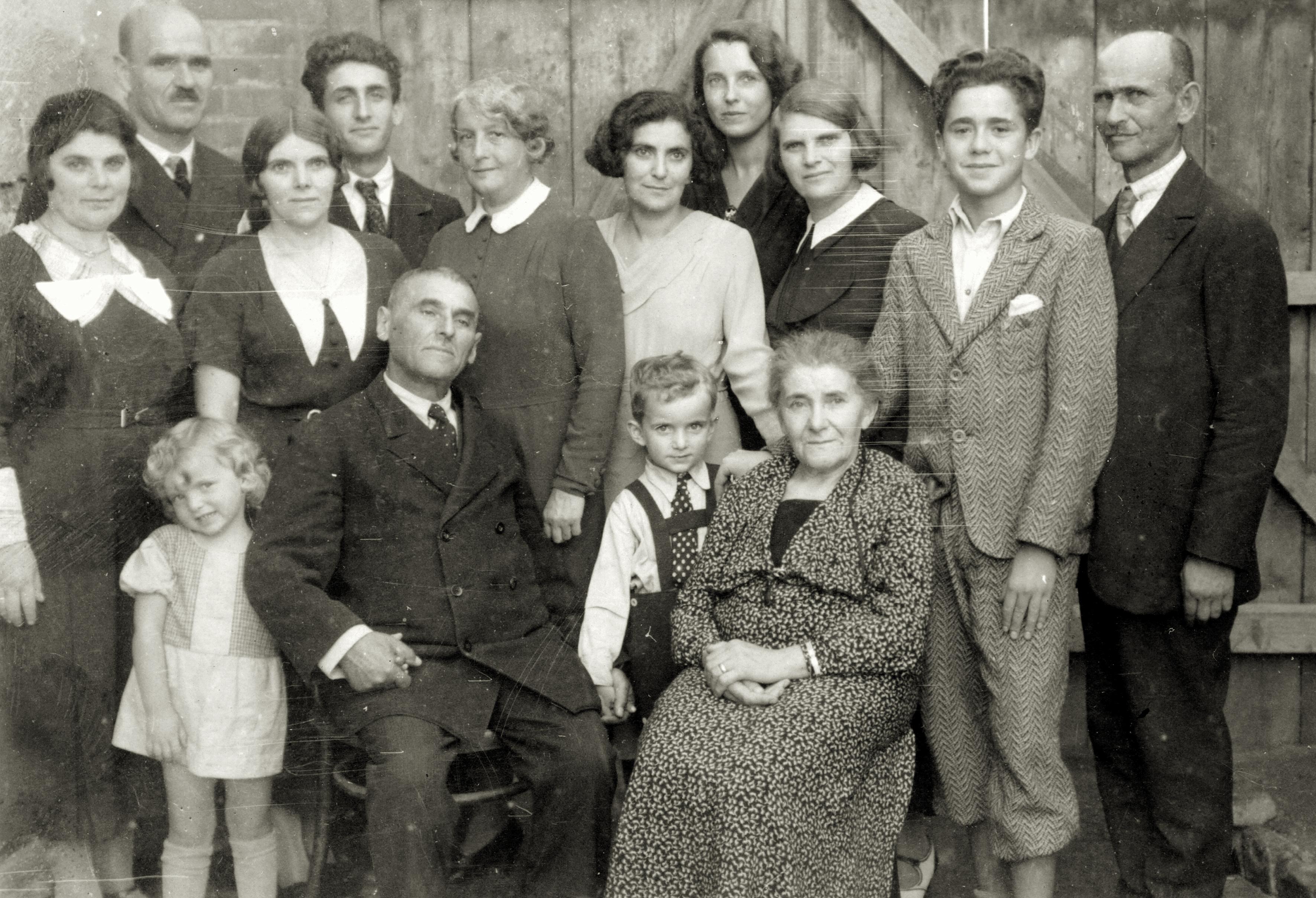 Wilhelm Steiner mit Onkel Isidor und der Familie väterlicherseits