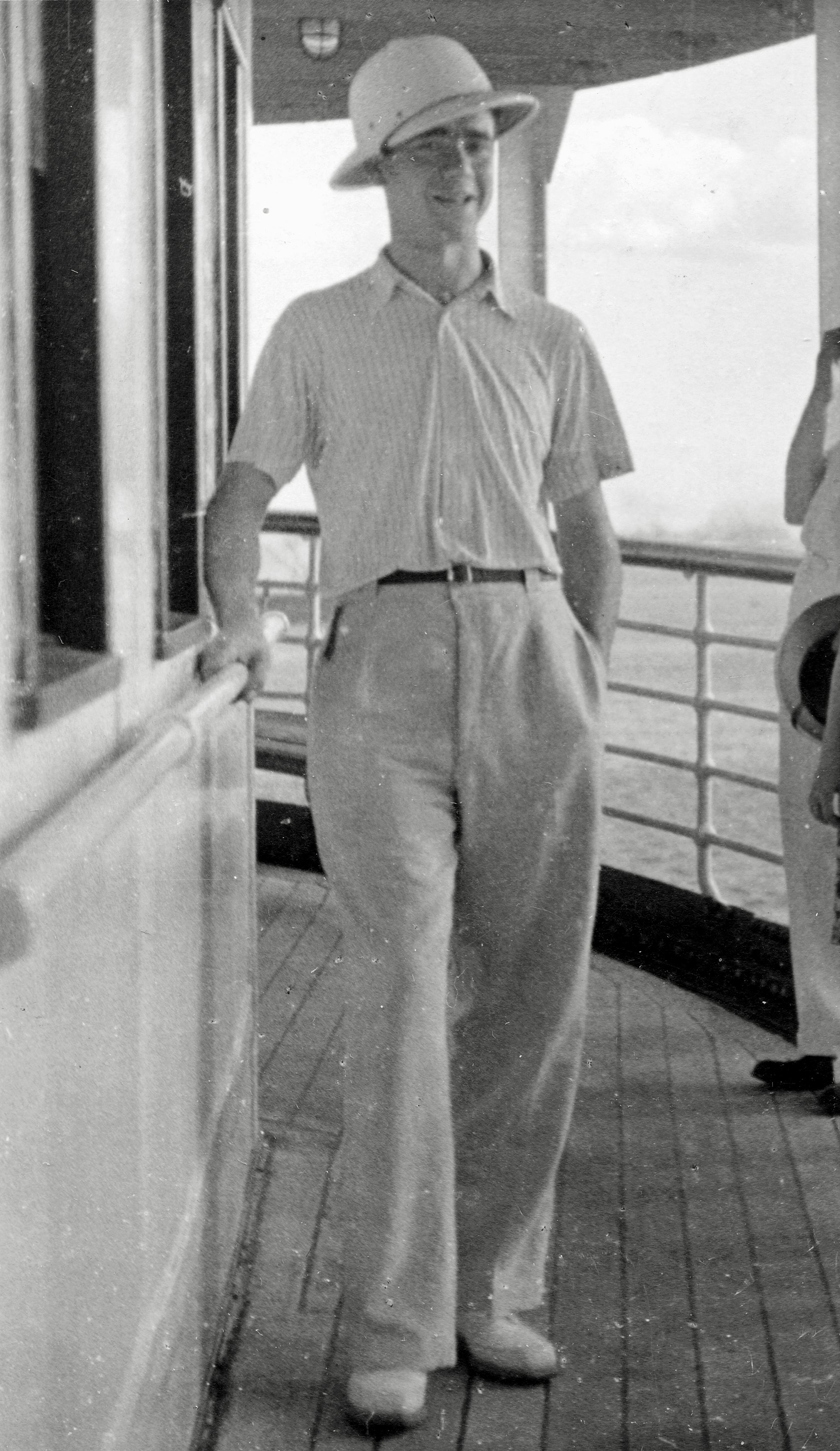 Wilhelm Steiner auf dem Luxusdampfer von New York in die Dominikanische Republik