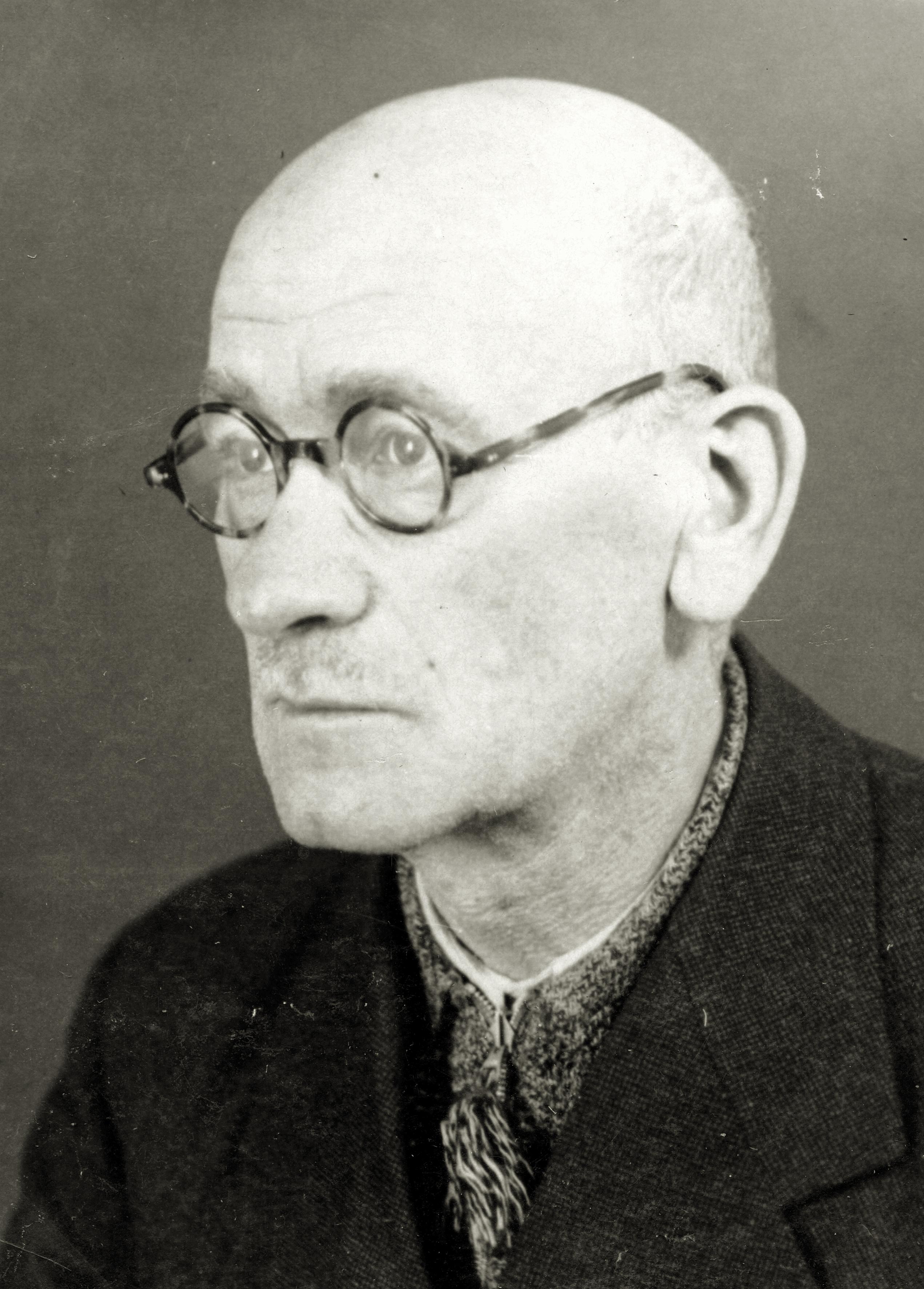 Jakob Steiner nach der Entlassung aus dem KZ Dachau 1939