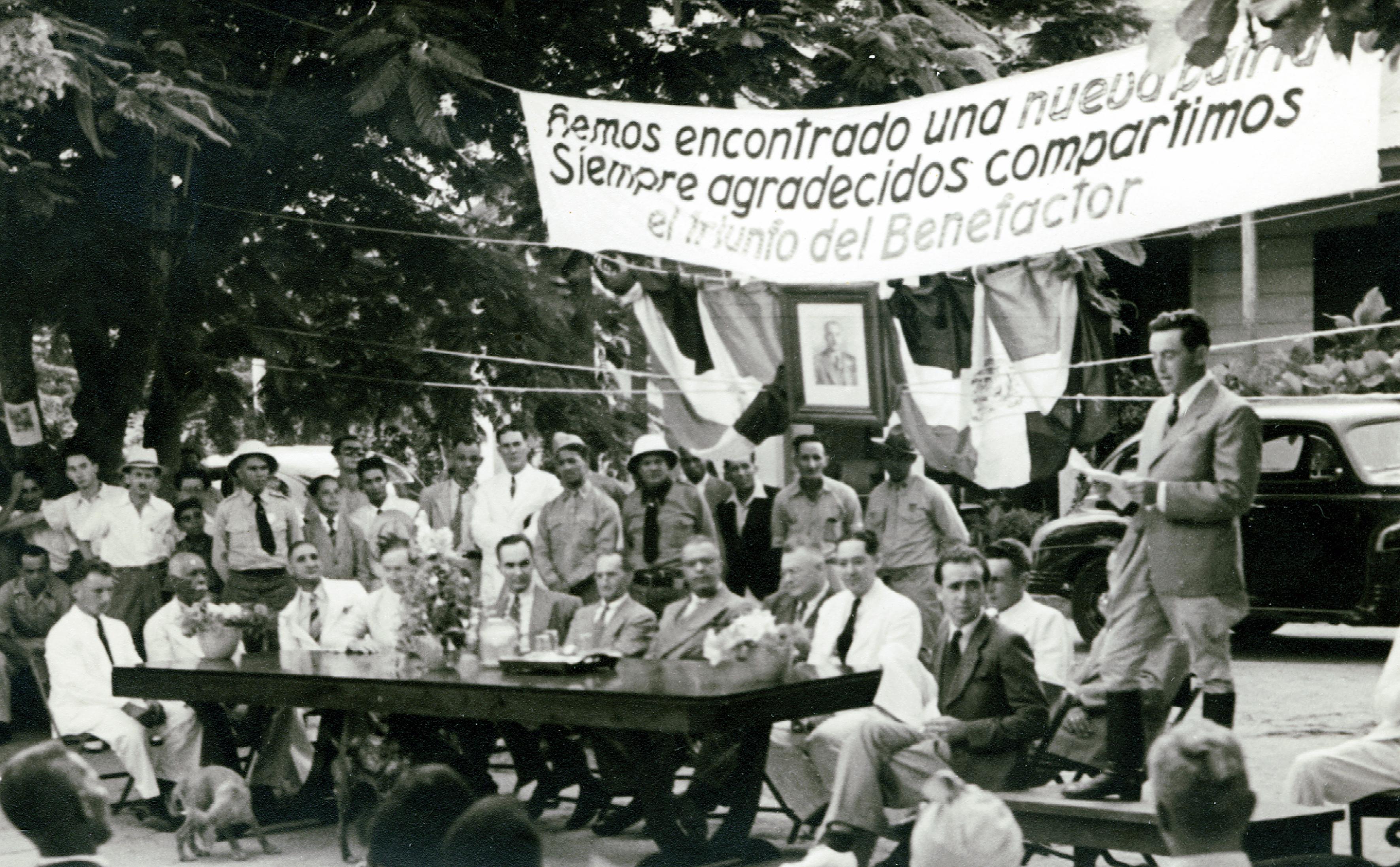 Wilhelm Steiner auf einer Veranstaltung in der Dominikanischen Republik