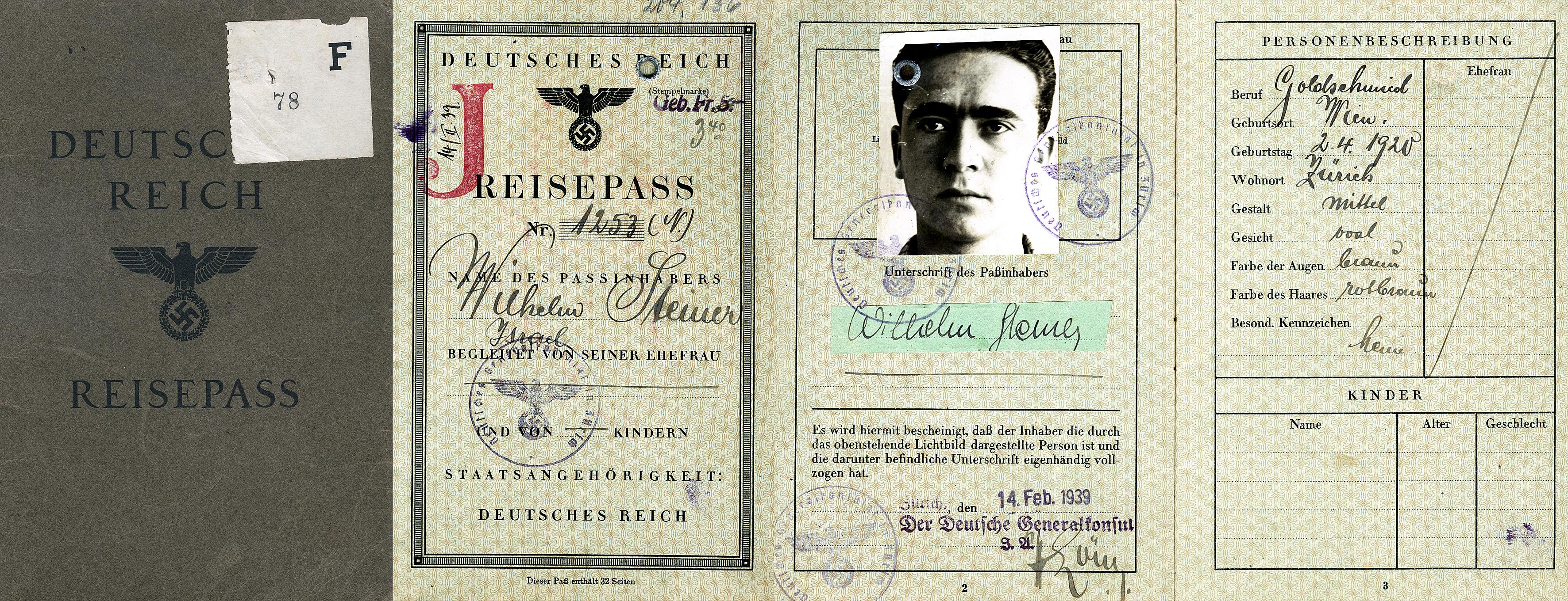 Wilhem Steiners Reisepass