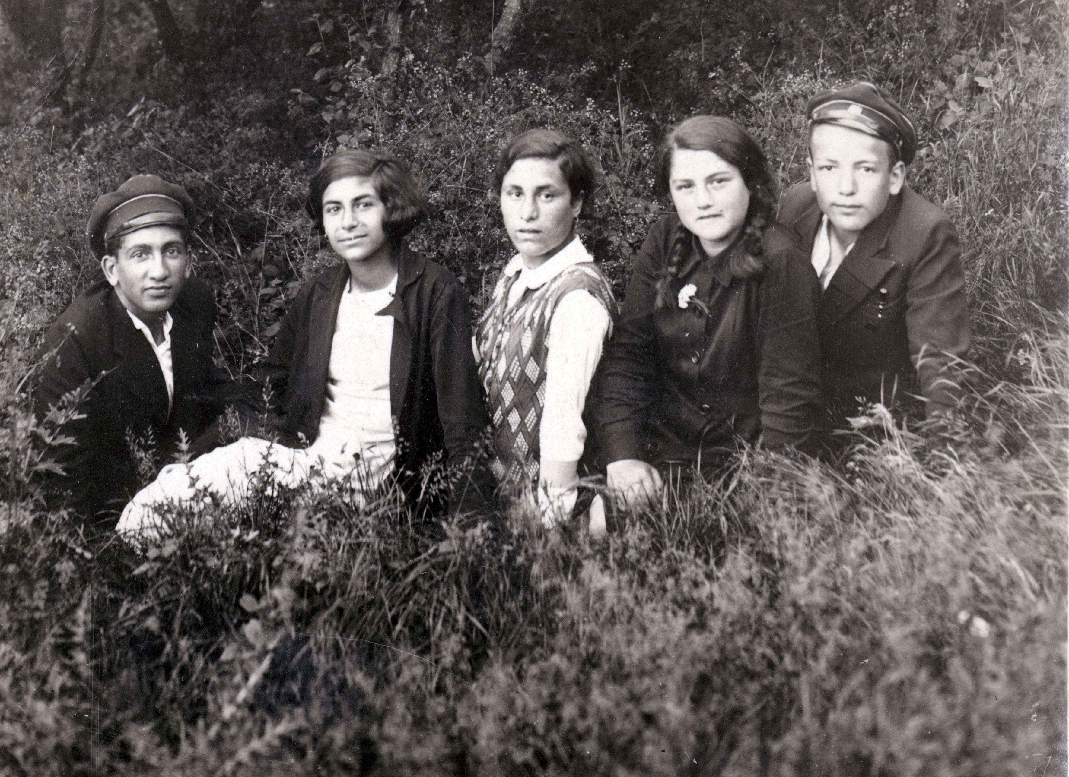 Matilda Israel with her friends