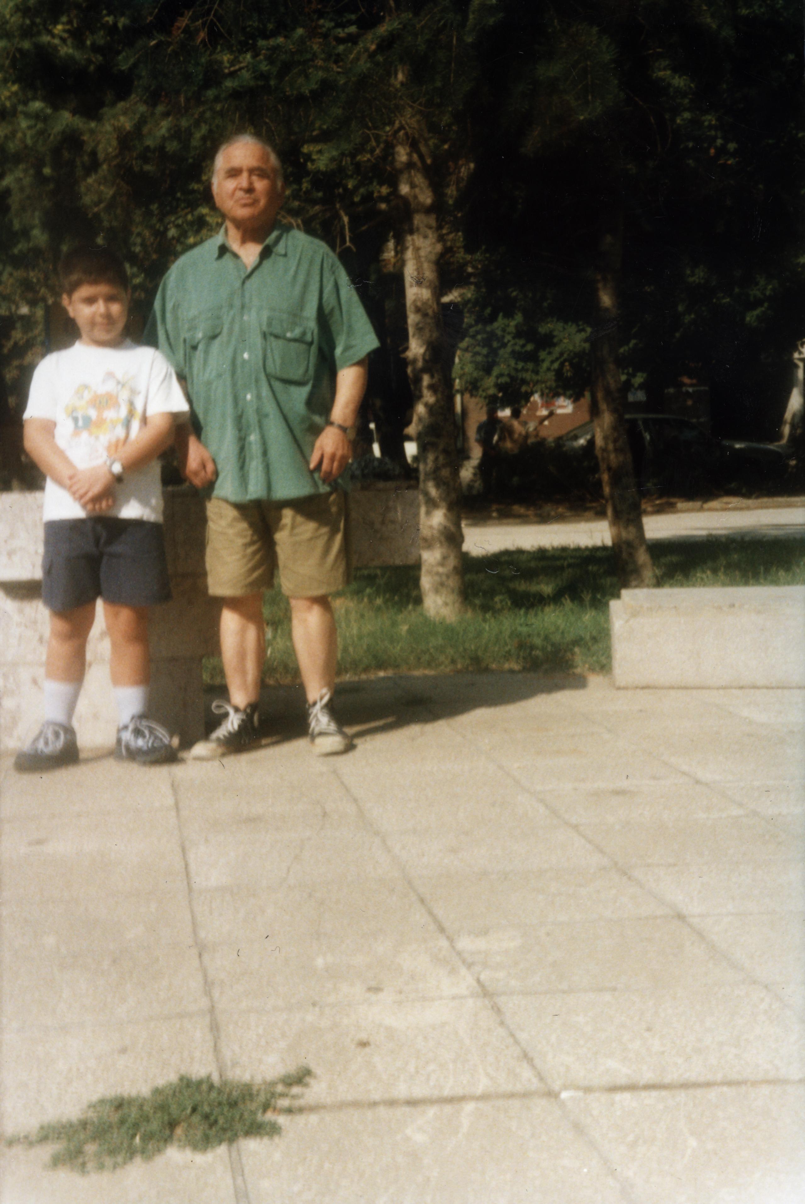 Rafael Beraha with his grandson Avishay Beraha