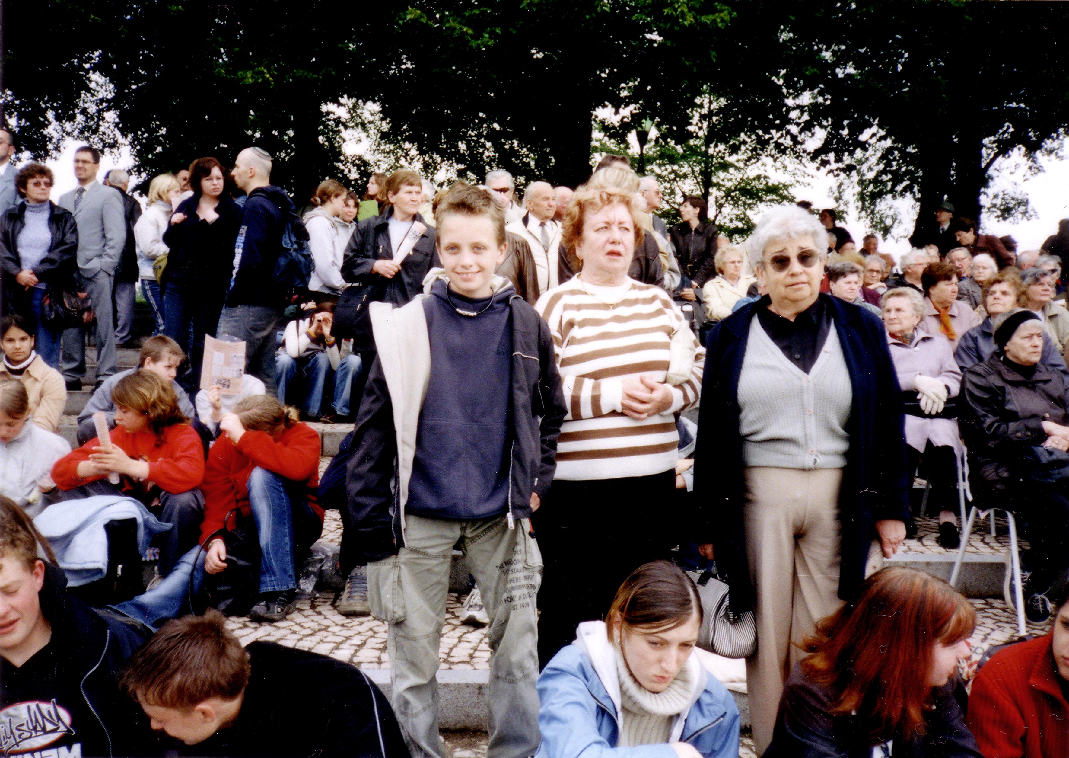 Mrs. Felixova at a memorial ceremony in Terezin