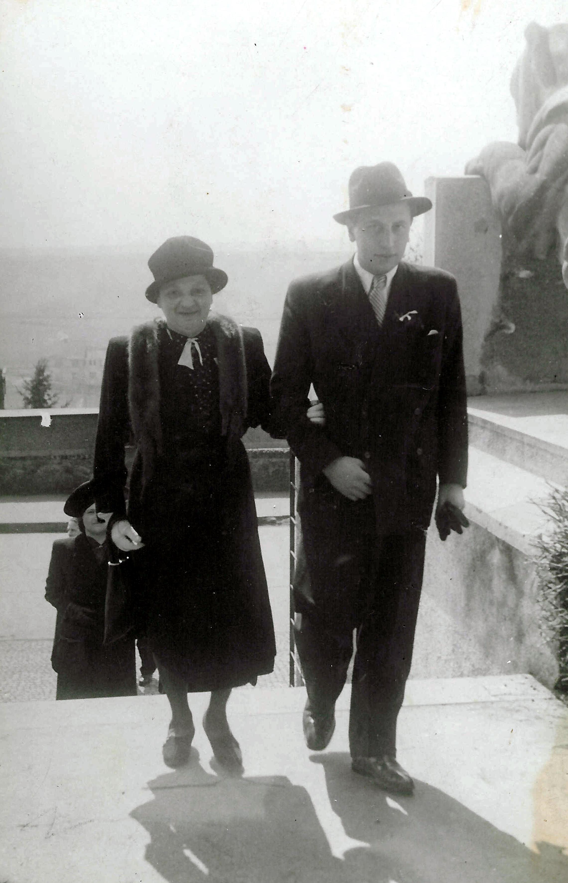 Eva Meislova's husband Jiri Meisl and her mother Stepanka Bohmova