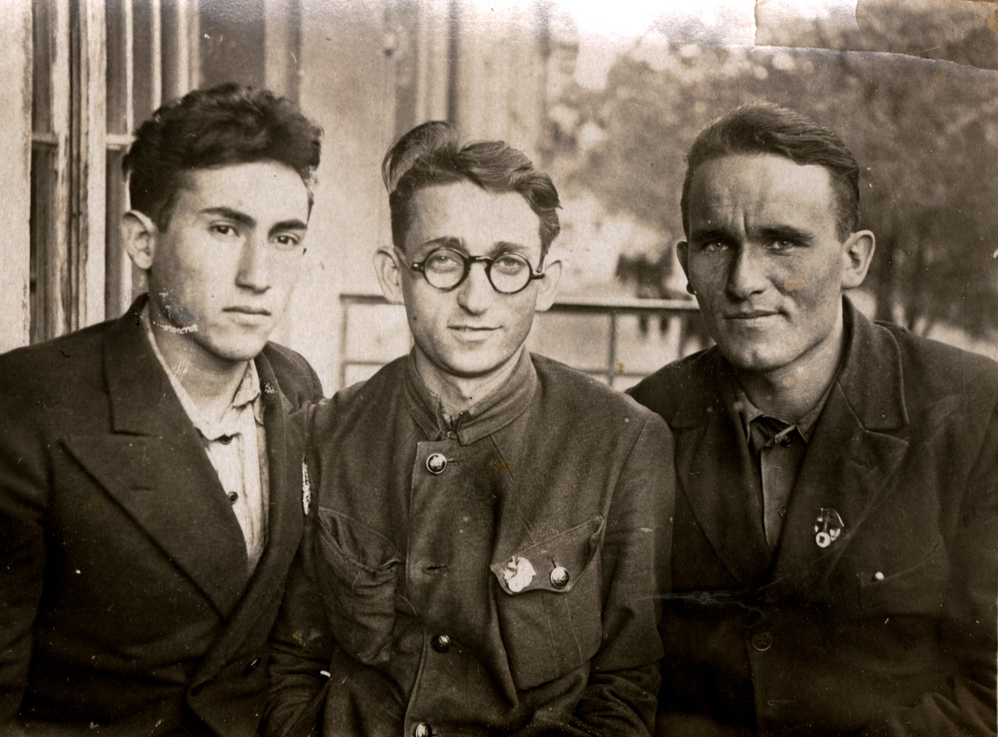 Meyer Goldstein with his Jewish friends