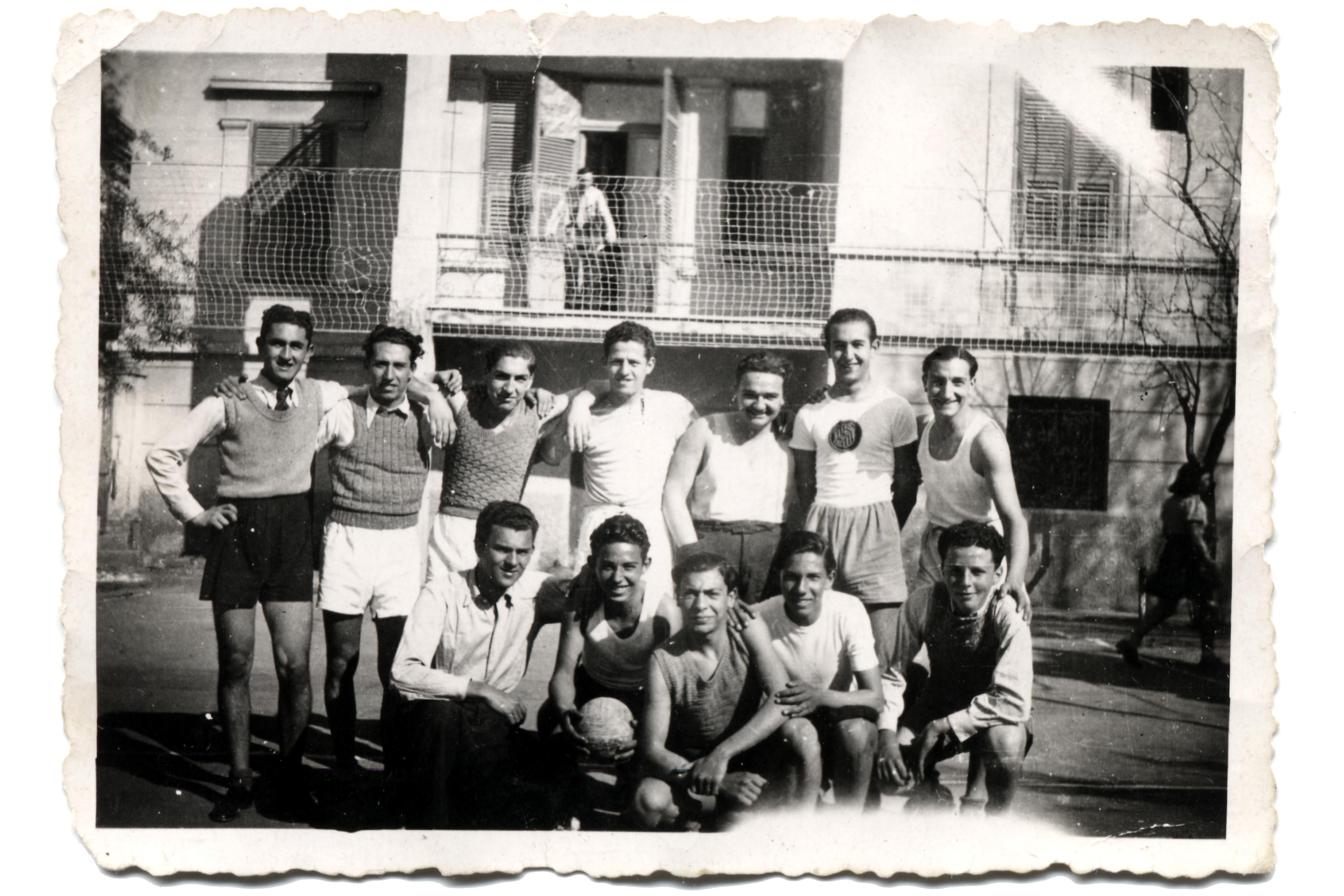 Deniz Nahmias with friends from Kostandinides school