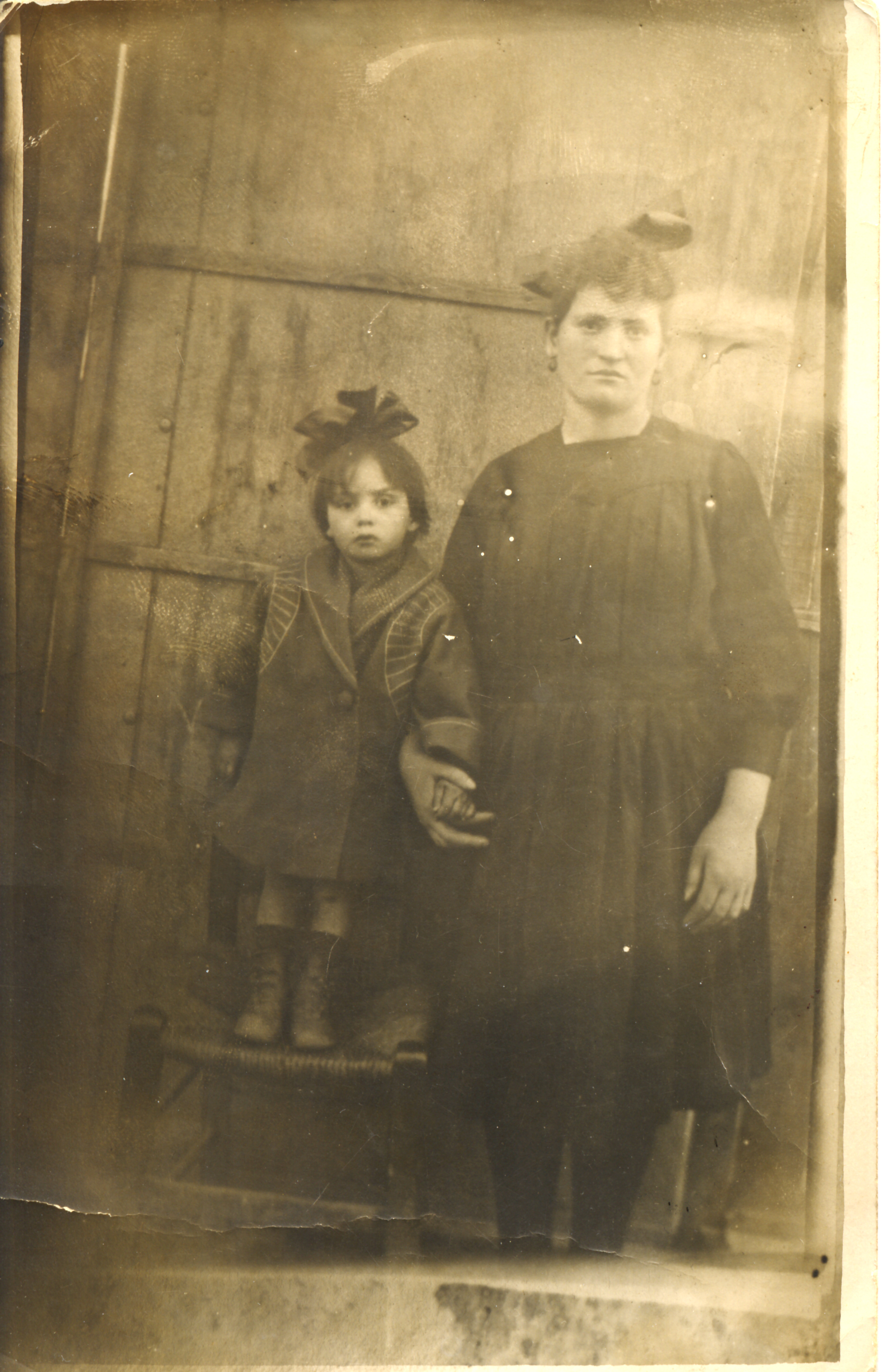 Renee Molho with her family's maid Sterina