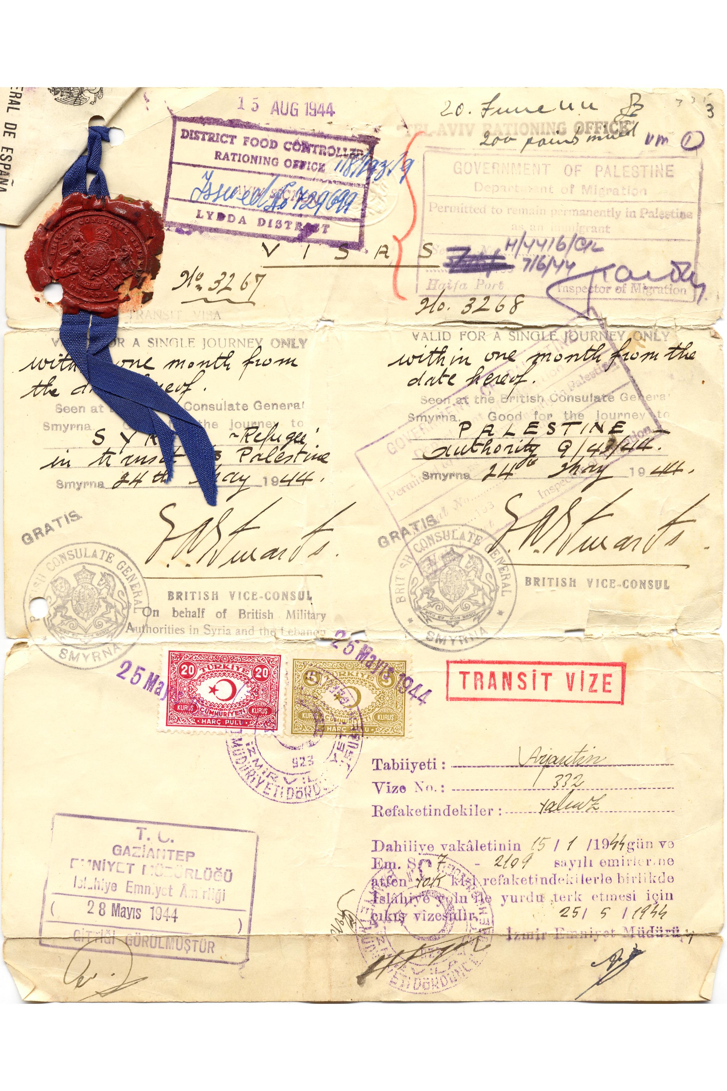 Renee Molho's traveling permit