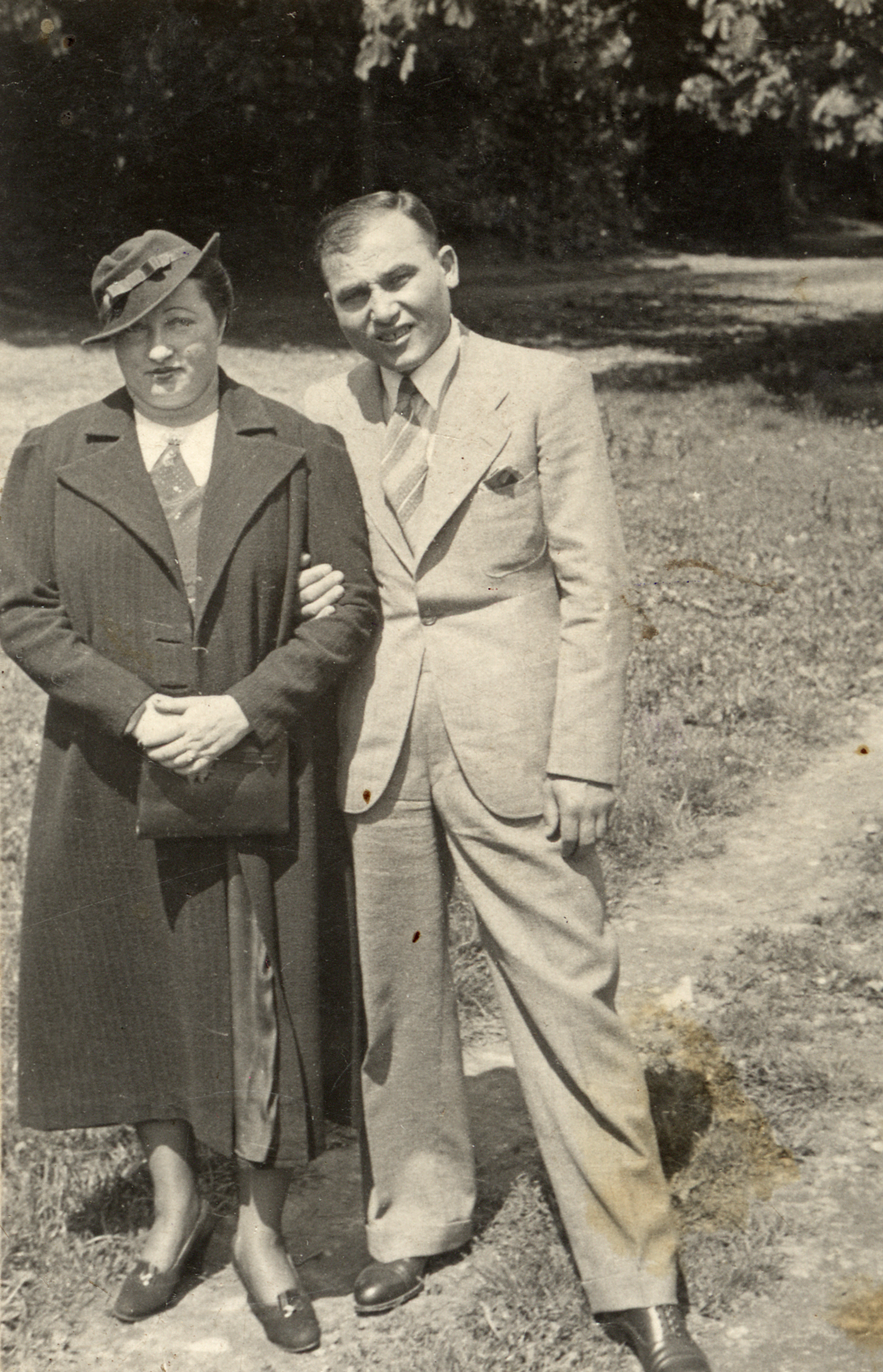 Isaac Reznik with his wife