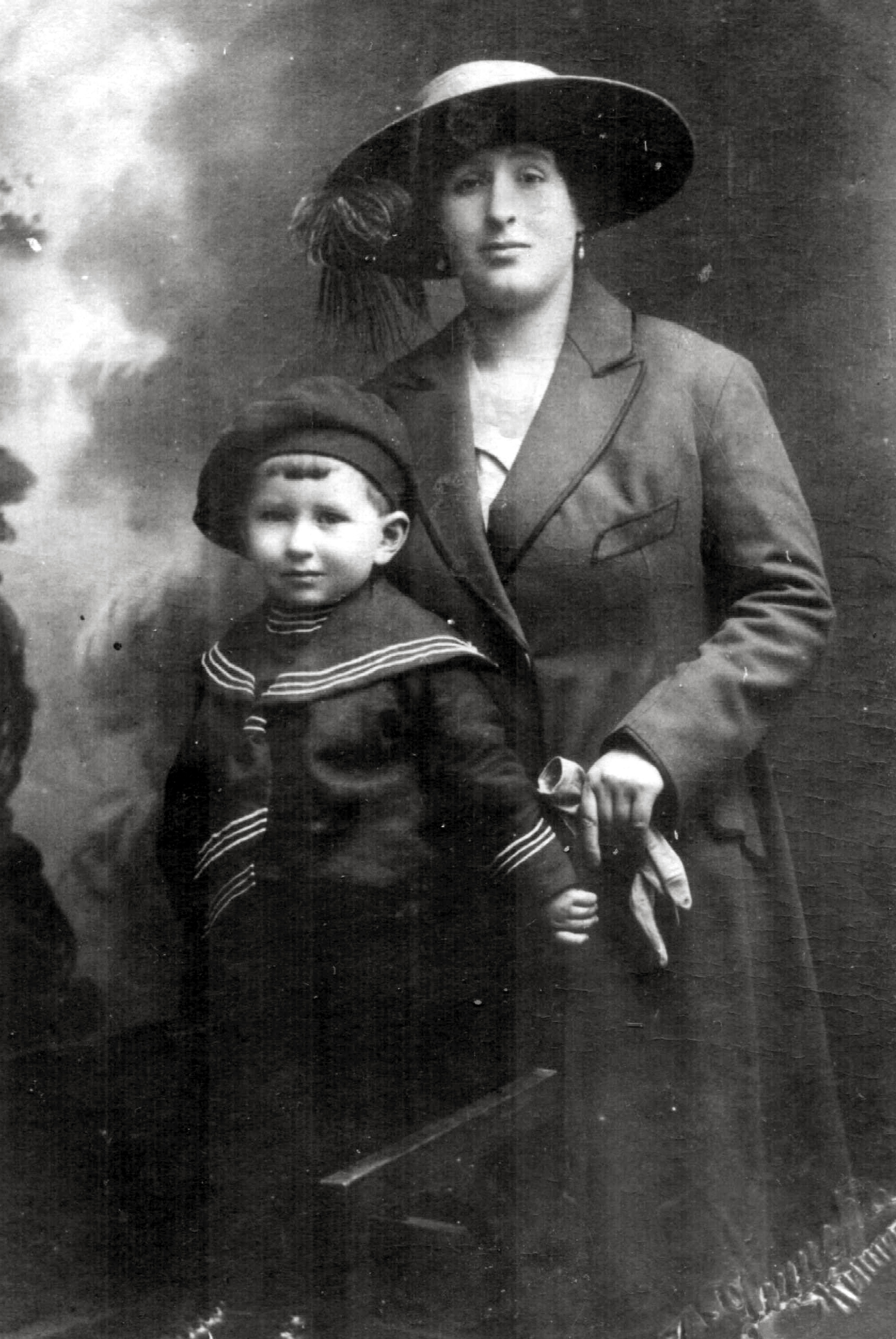 Sonia Gerstein with her son Shmuel