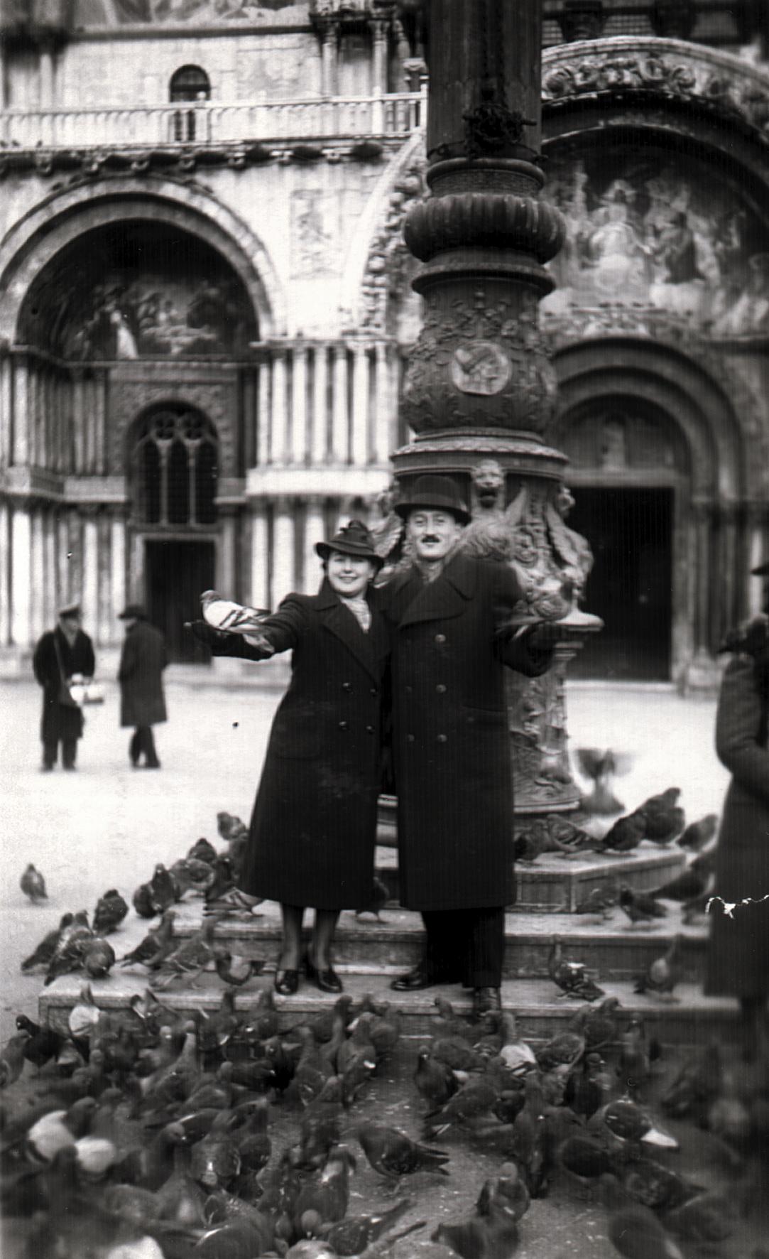 Pista and Maria Preisz in Venice