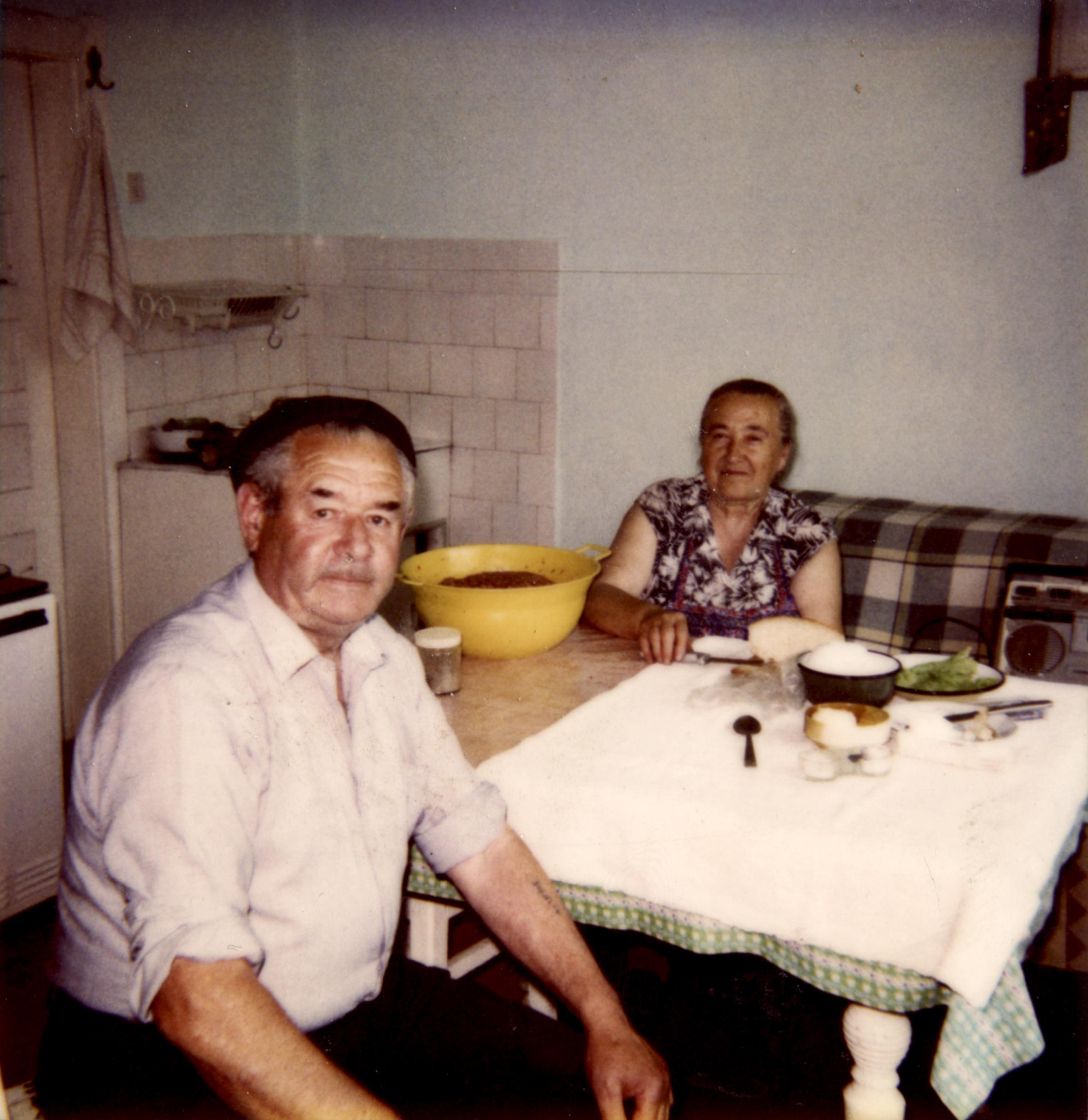 Blum Zoltán a feleségével, Rozáliával
