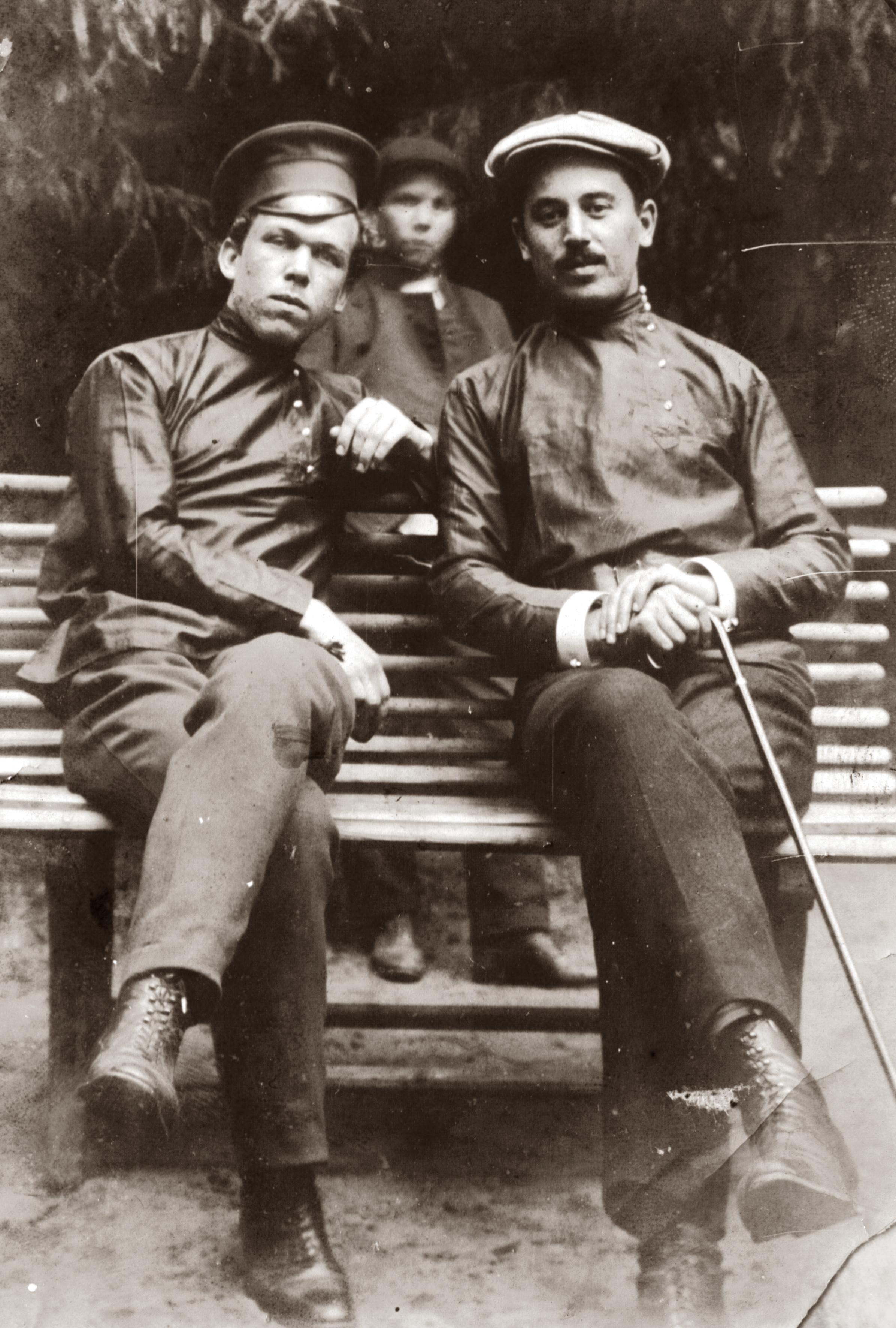 Vladimir Yanov with his pal