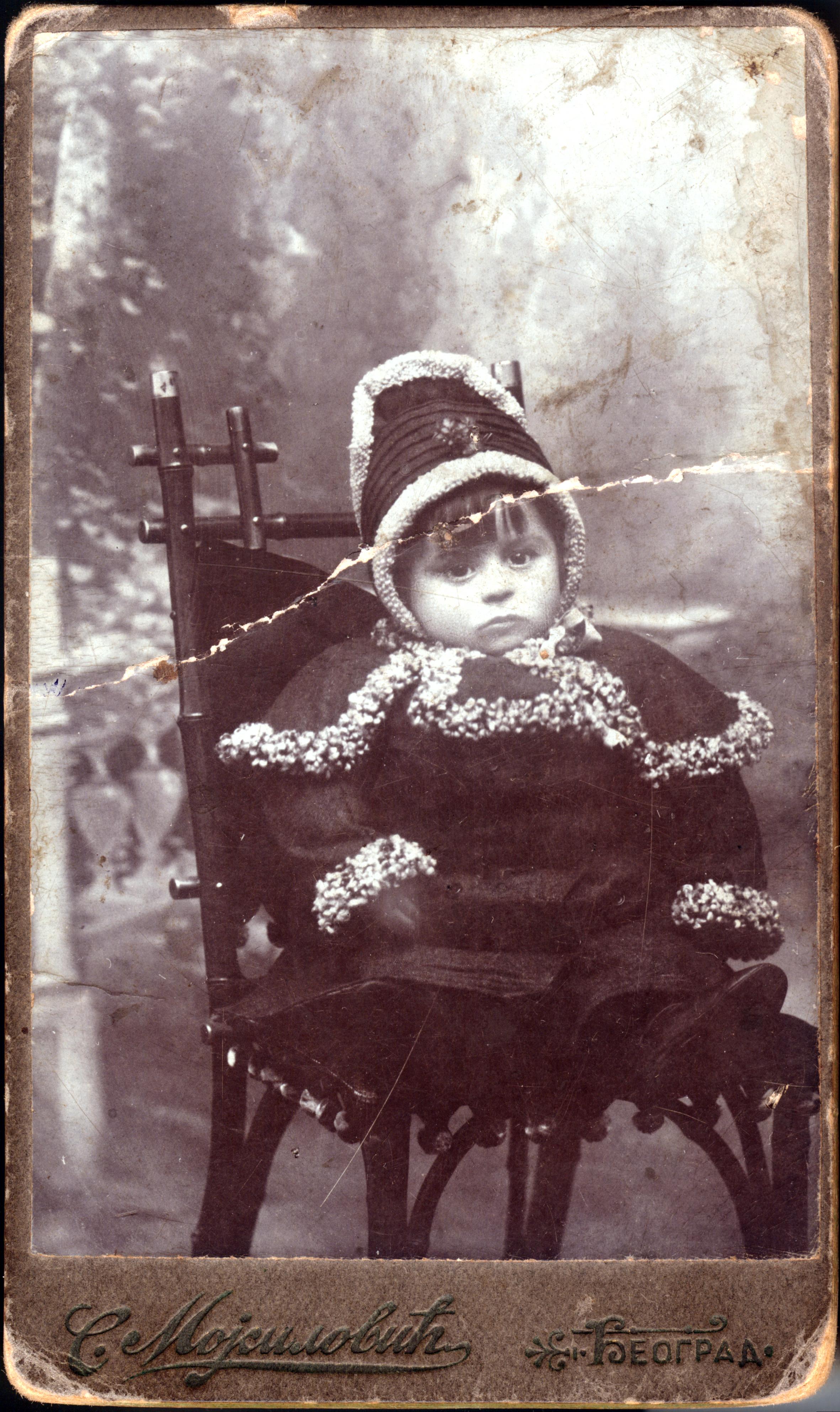 Avram Kalef as a young boy