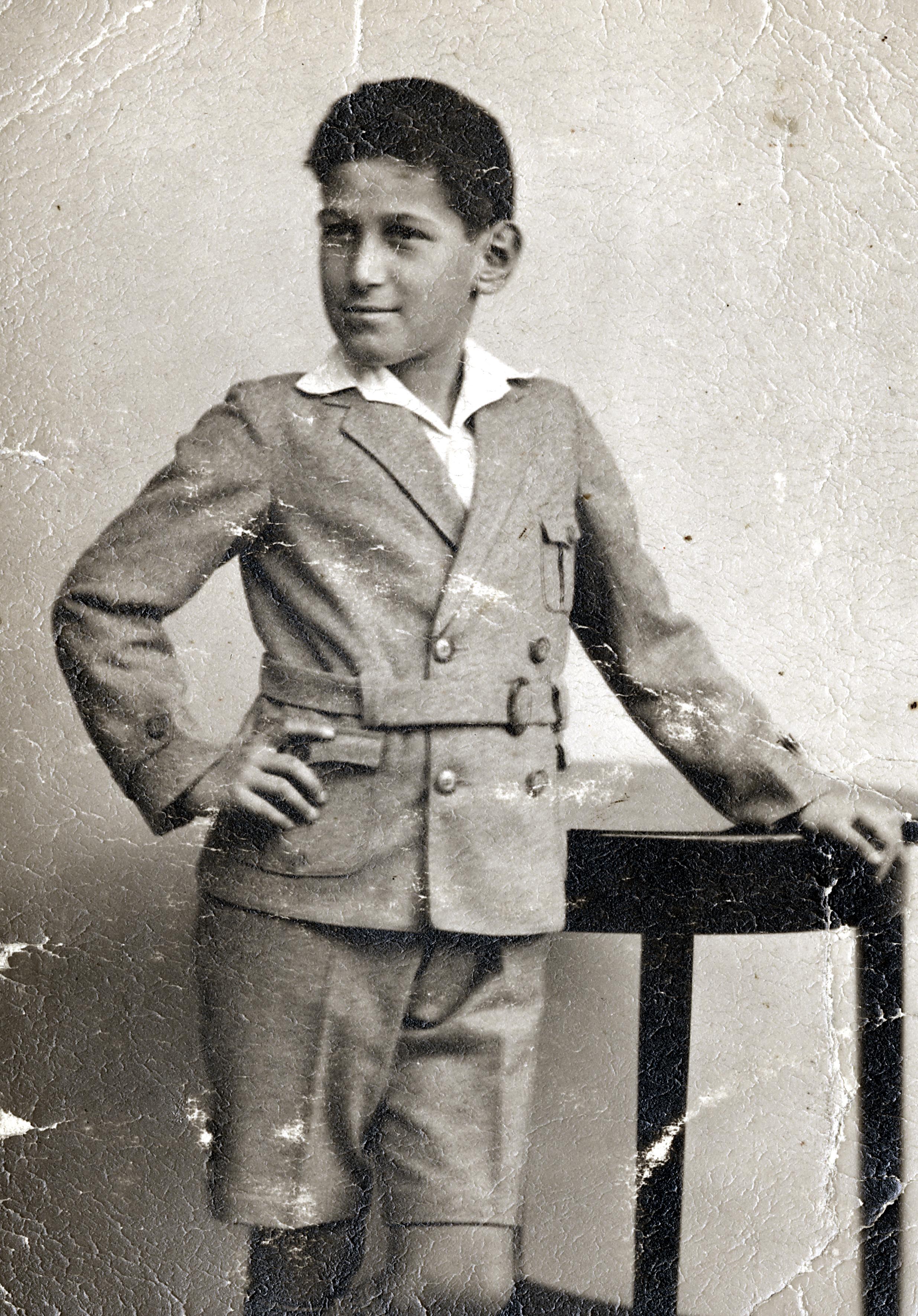 Peter Scheuer als Schulkind