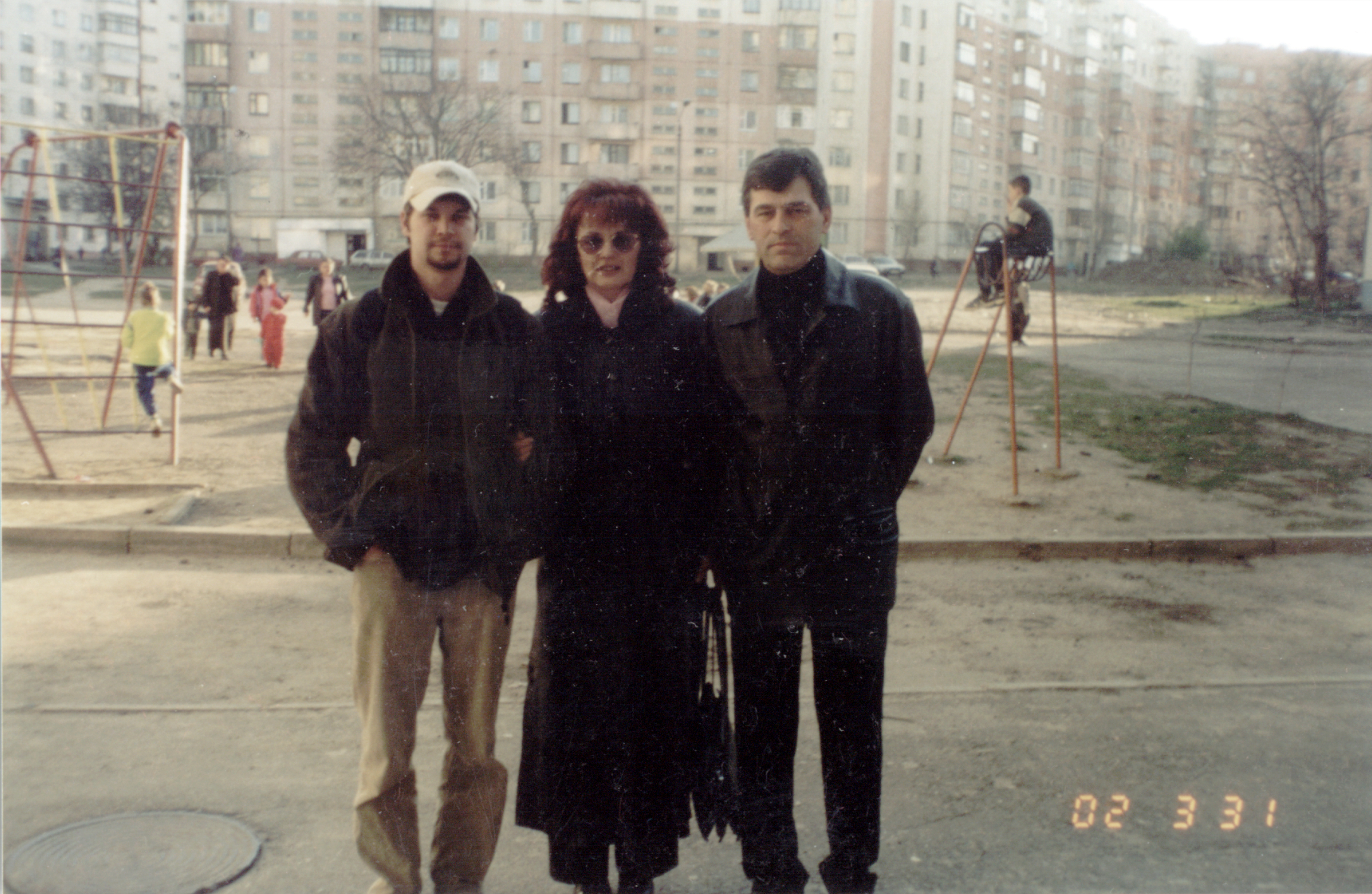 Vitali Geller with his family
