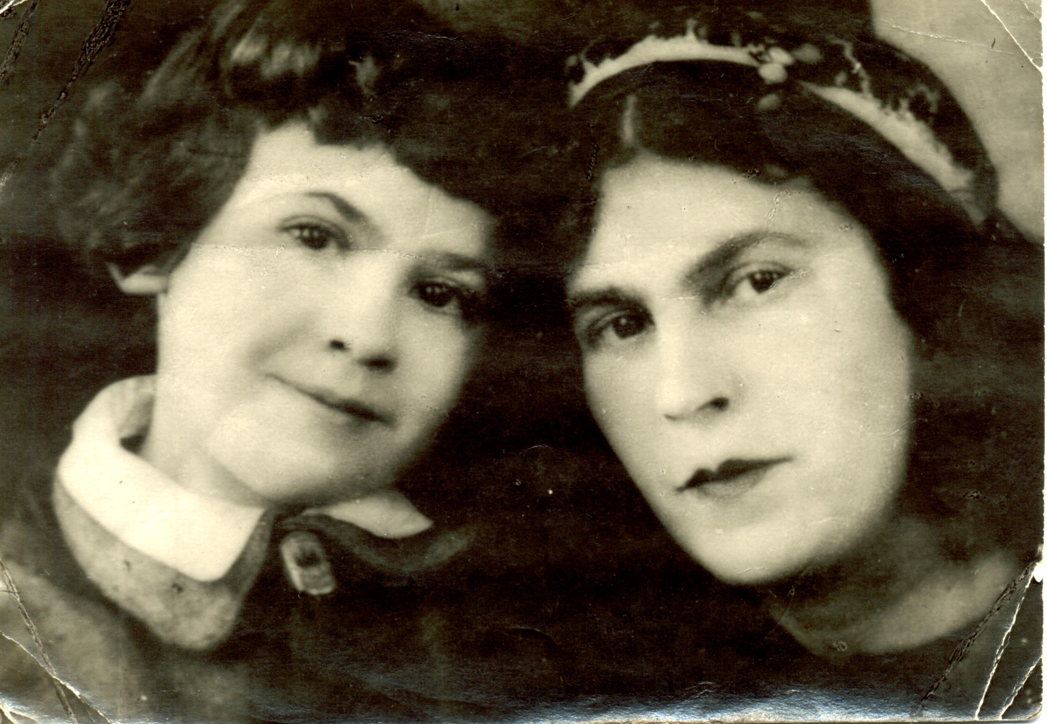 Sophia Belotserkovskaya with her mother