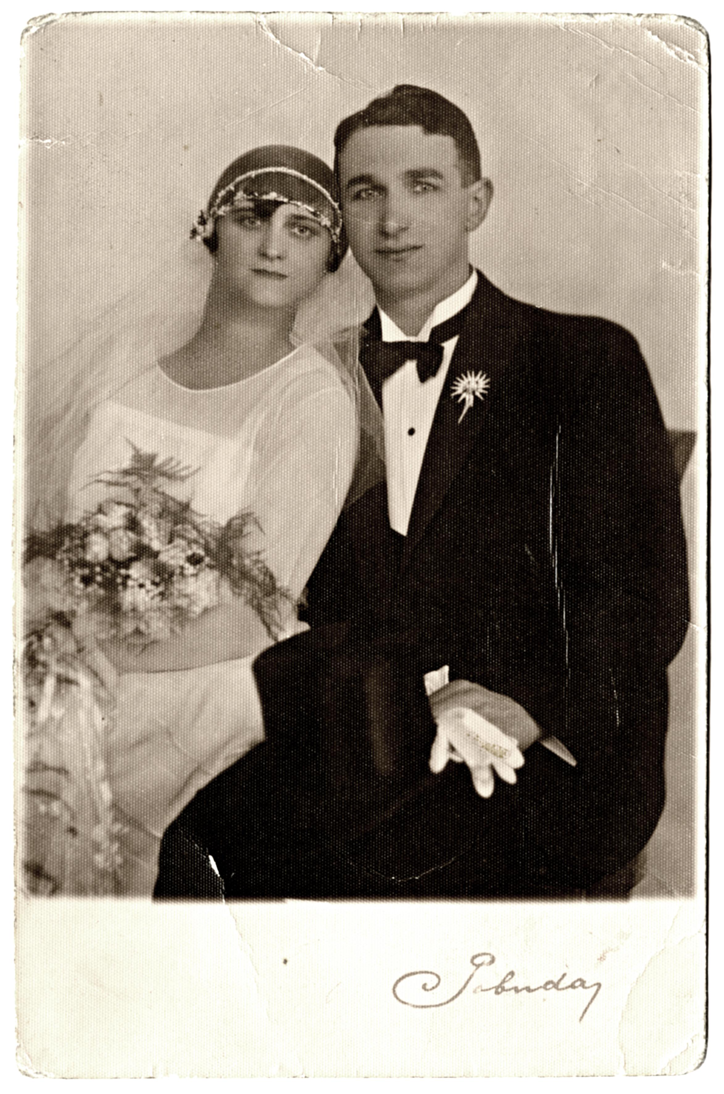 Bihari Lajos és Weisz Ella esküvõi képe
