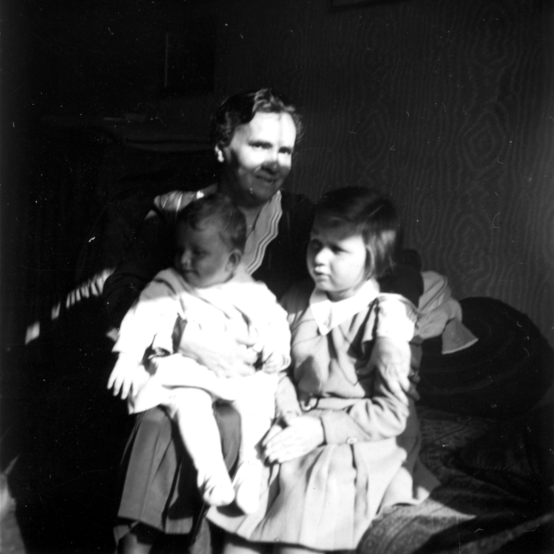 Olga Korbelova with her granddaughters