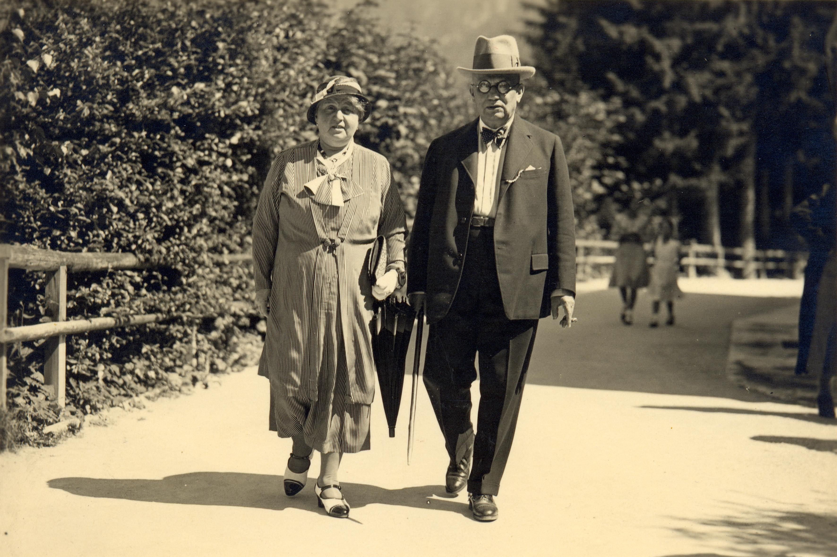 Olga Glässnerova with her husband Karel Glässner