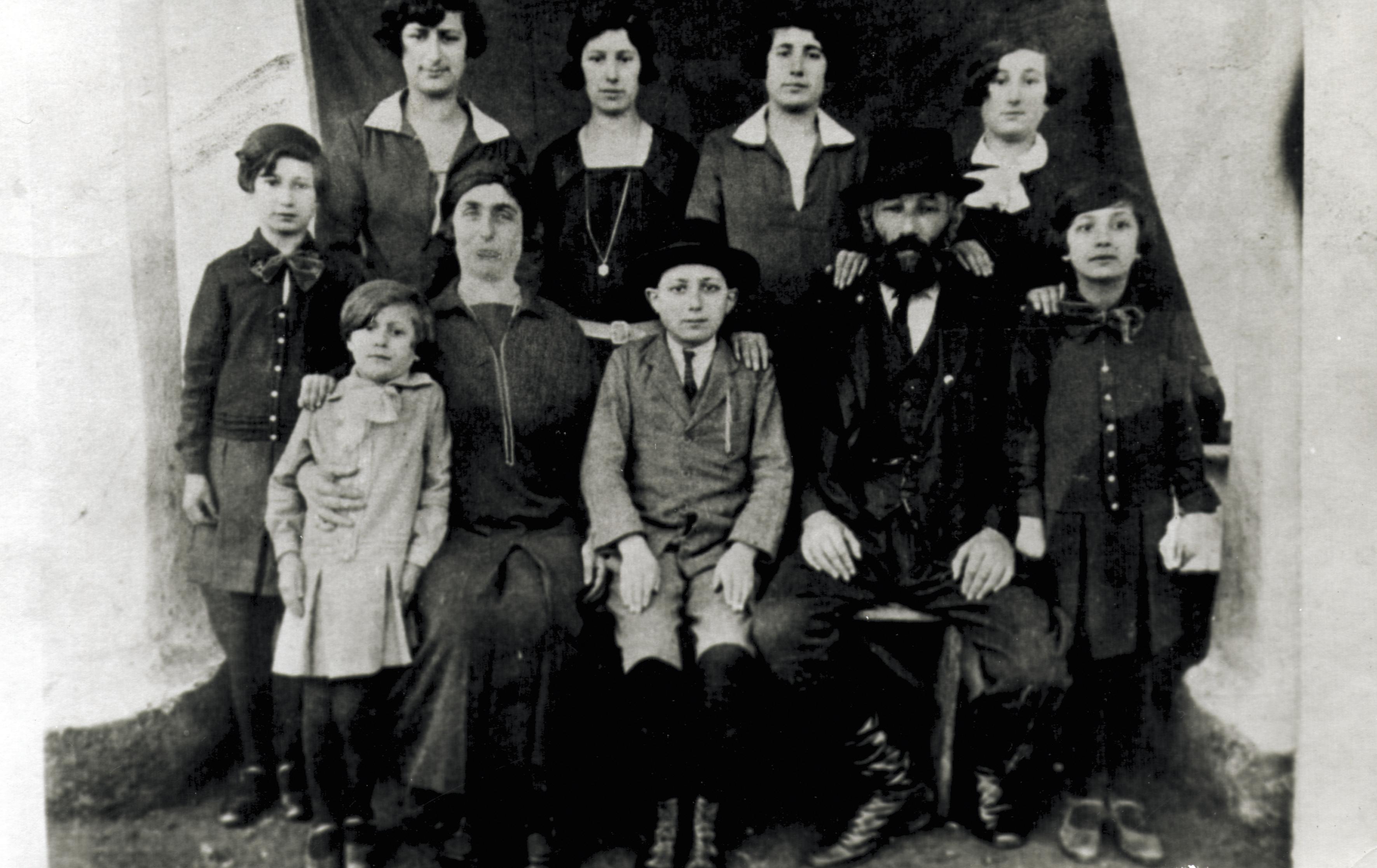 Glückmann Ábrahám családjával