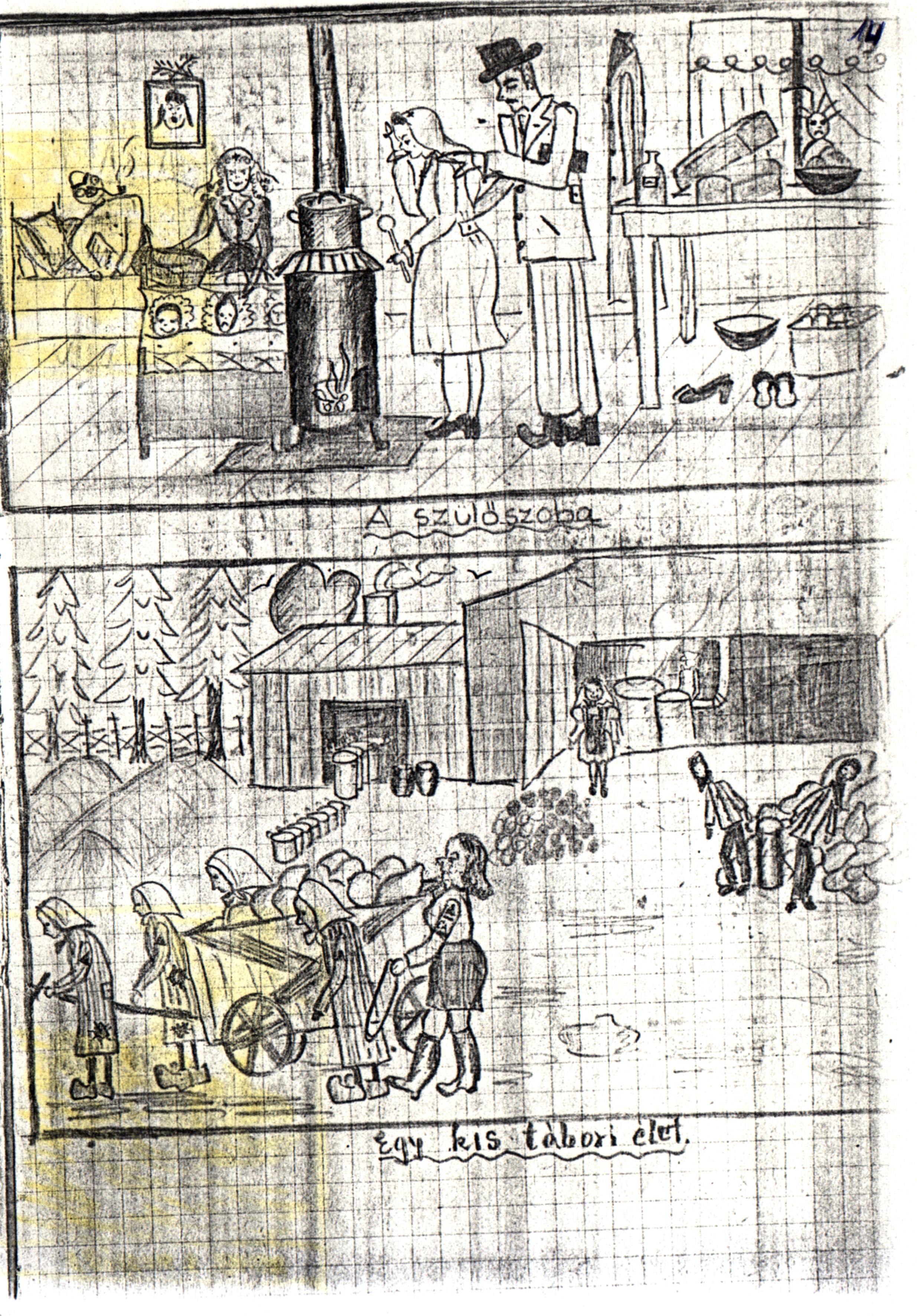Merényi Zsuzsa rajzos naplója a deportálásról III.