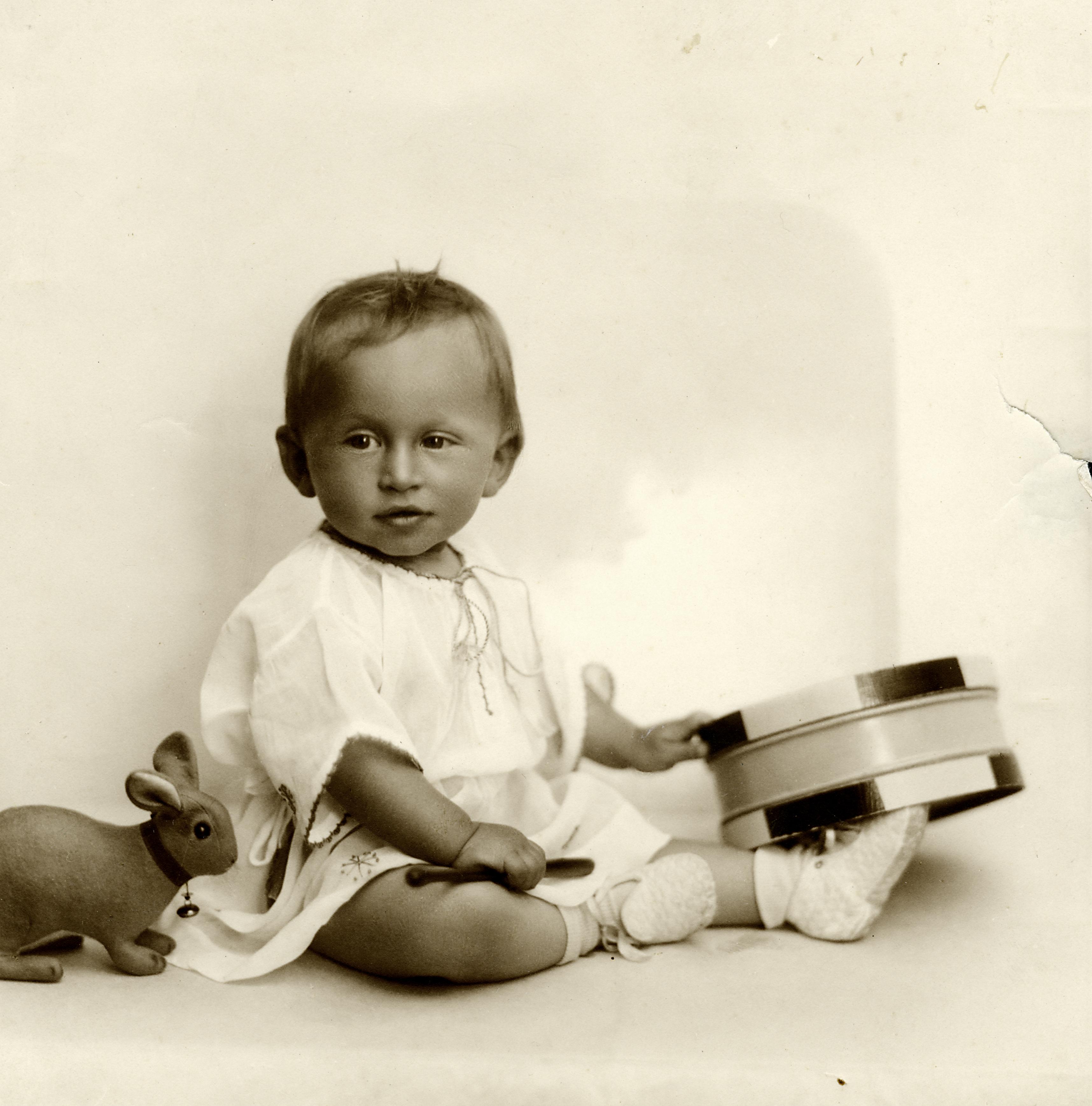 Robert Landesmann als Baby