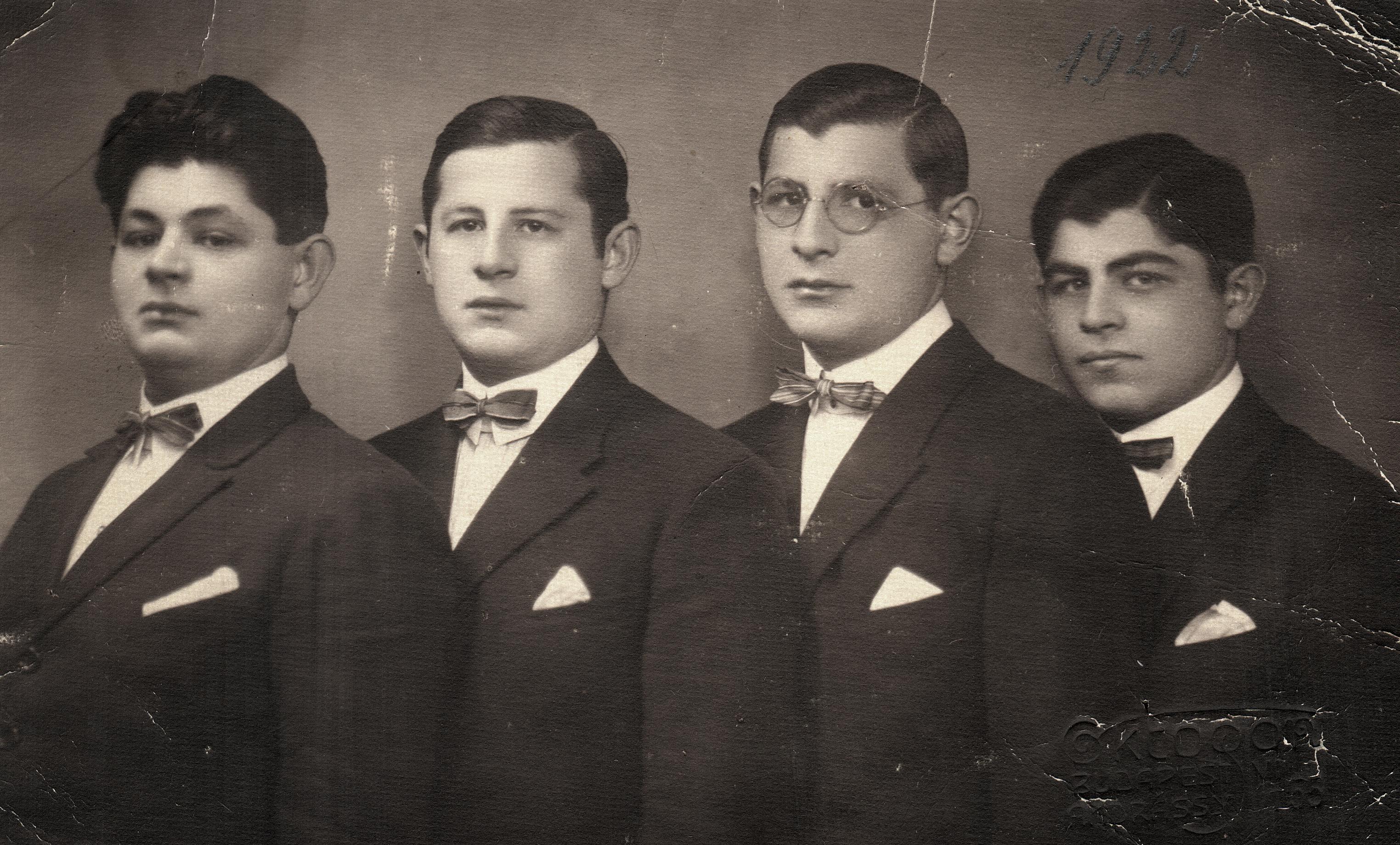 The Nussbaum brothers: Laszlo, Jeno, Jozsef, Sandor
