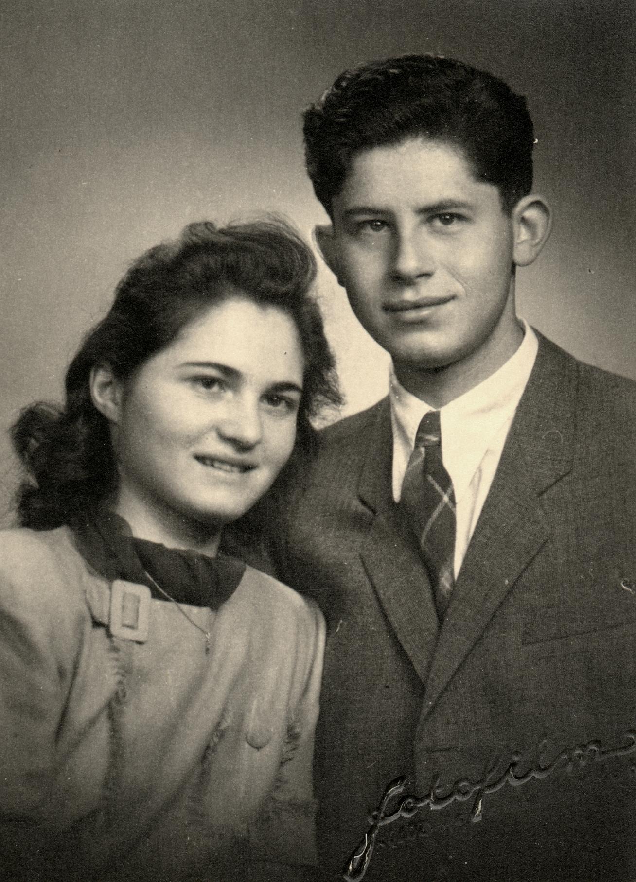Laszlo Nussbaum and his future wife, Silvia Brull