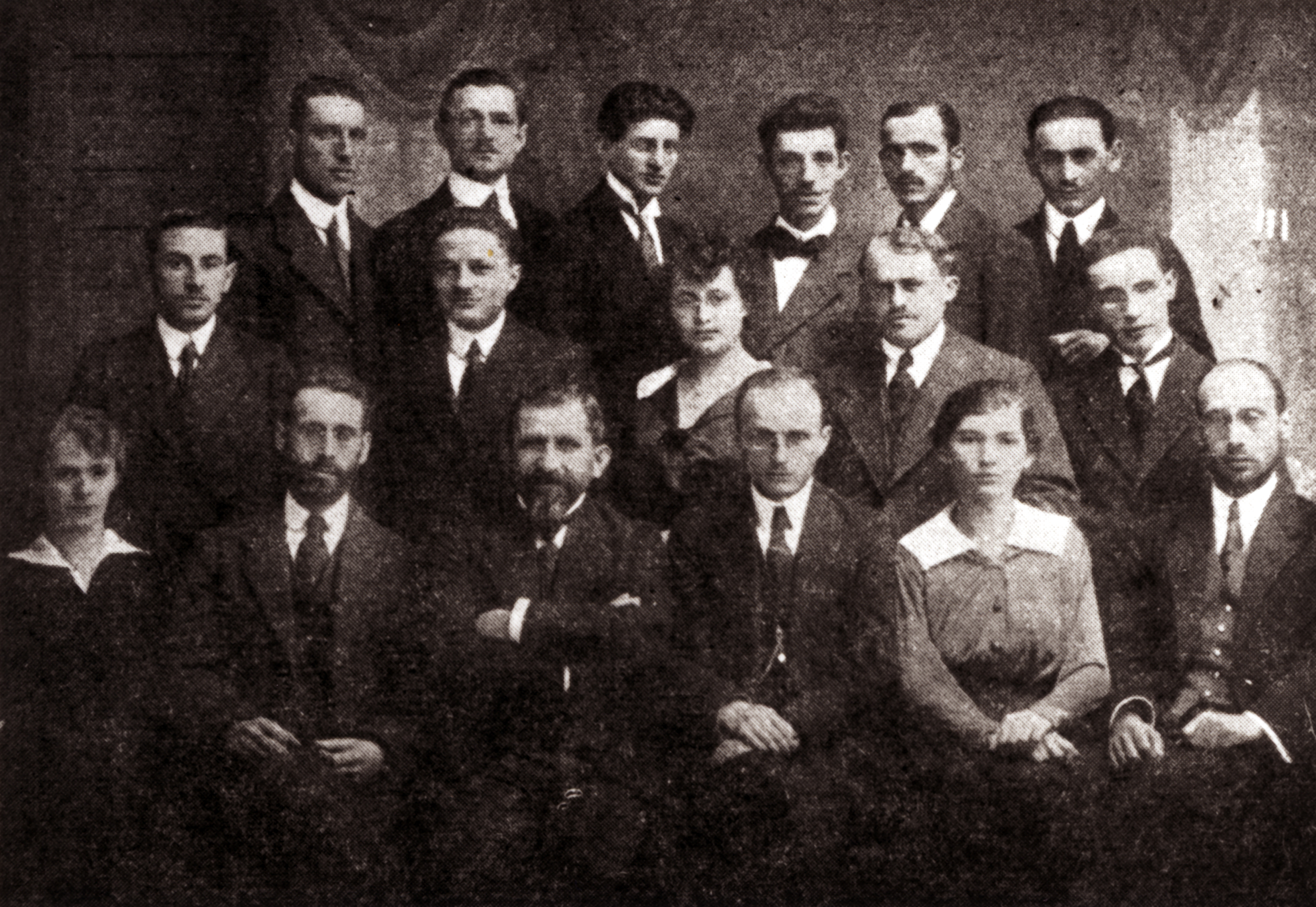 Eliasz Dajbog with the Committee of the Zionist Organization in Kielce