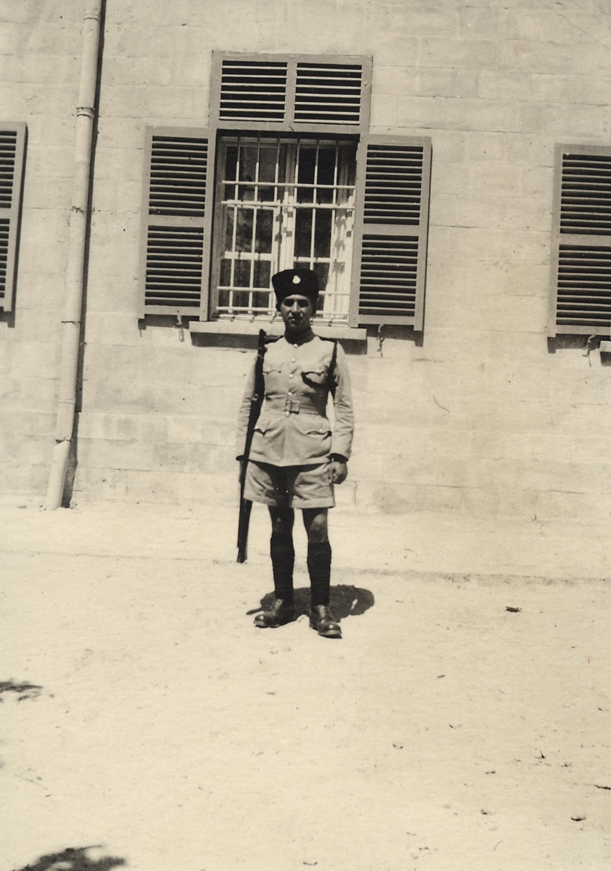 Alfred Barchelis bei der Polizei