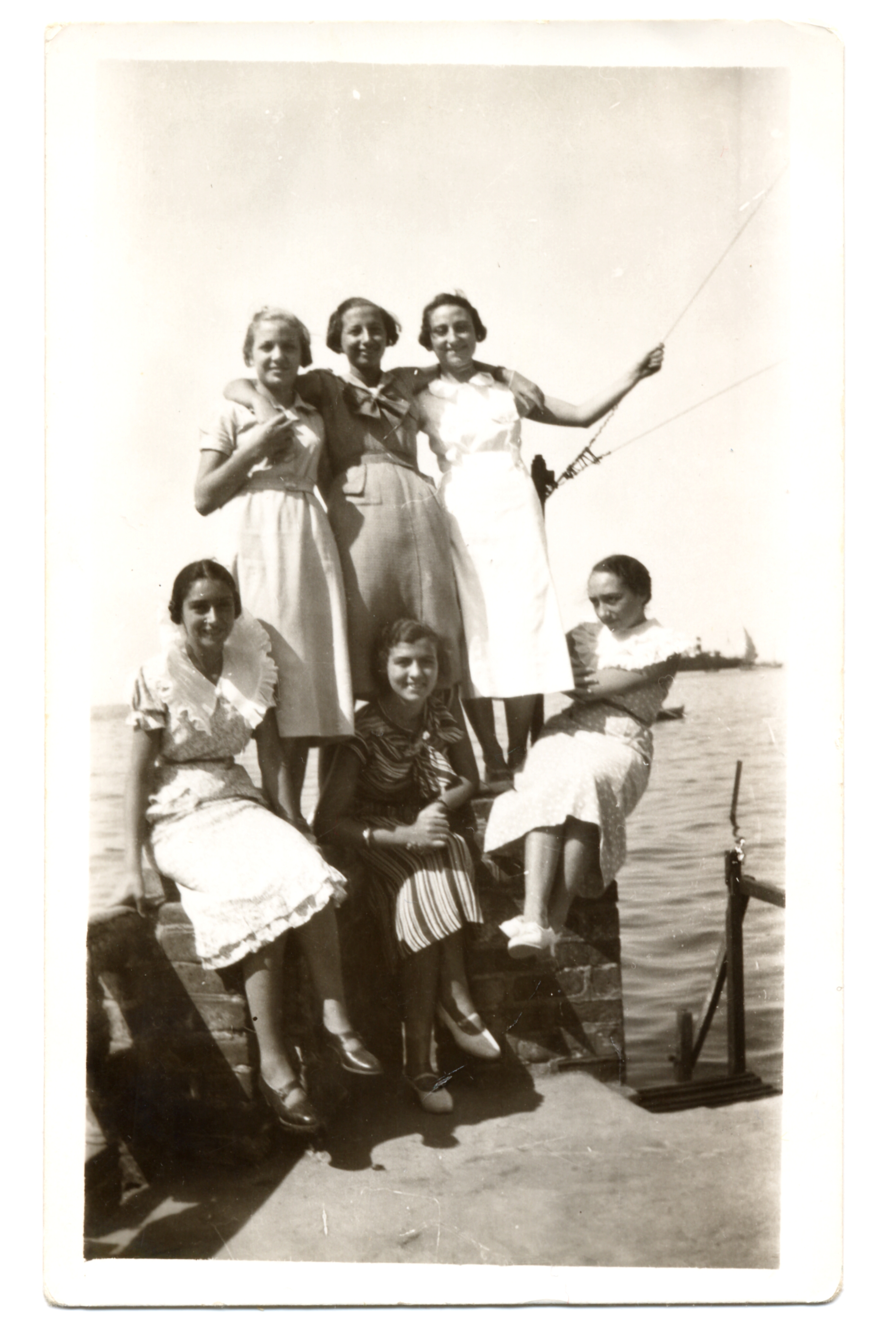 Renee Molho with her sister Matilde and friends