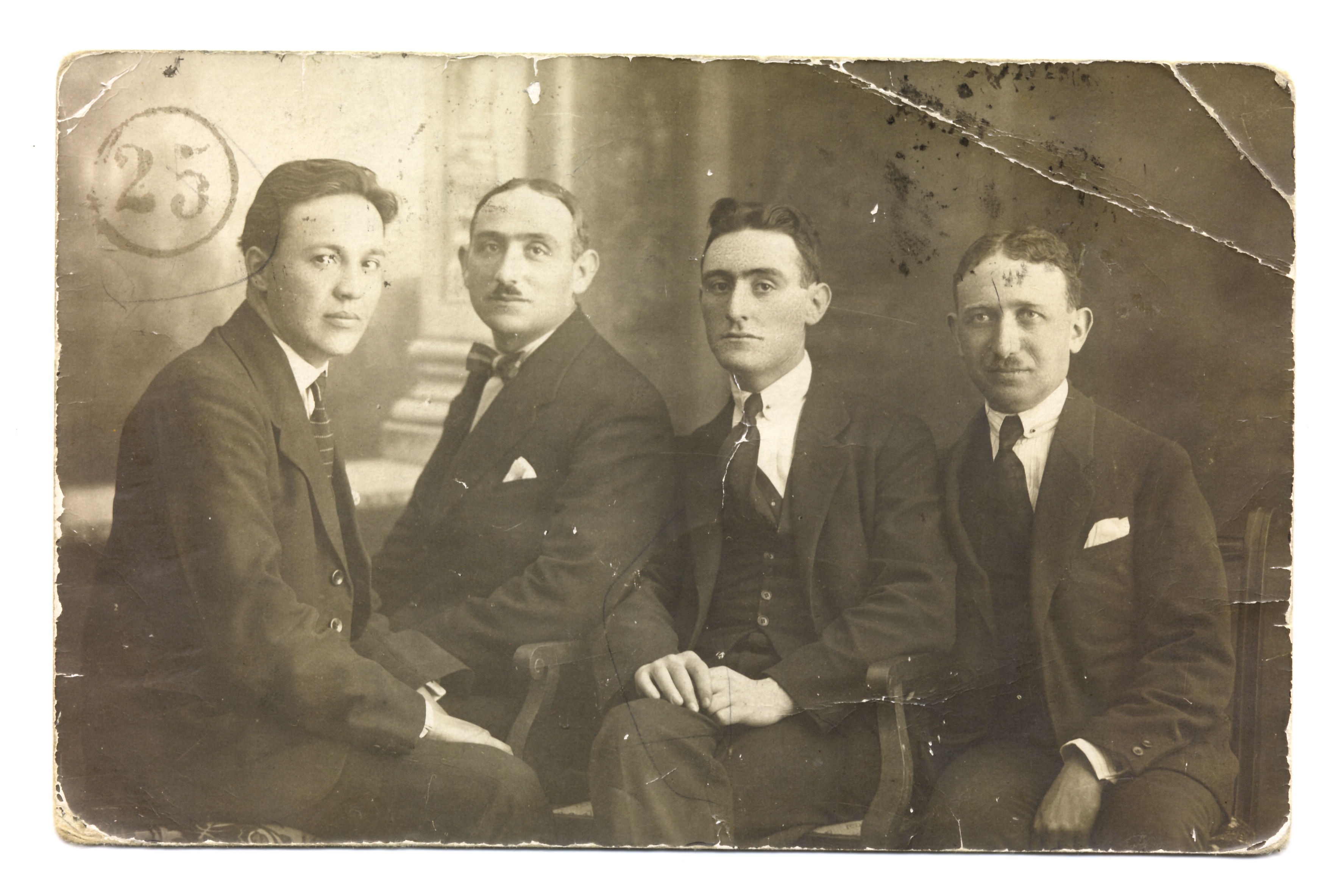 Joseph Saltiel with his brother Mentesh Saltiel and friends